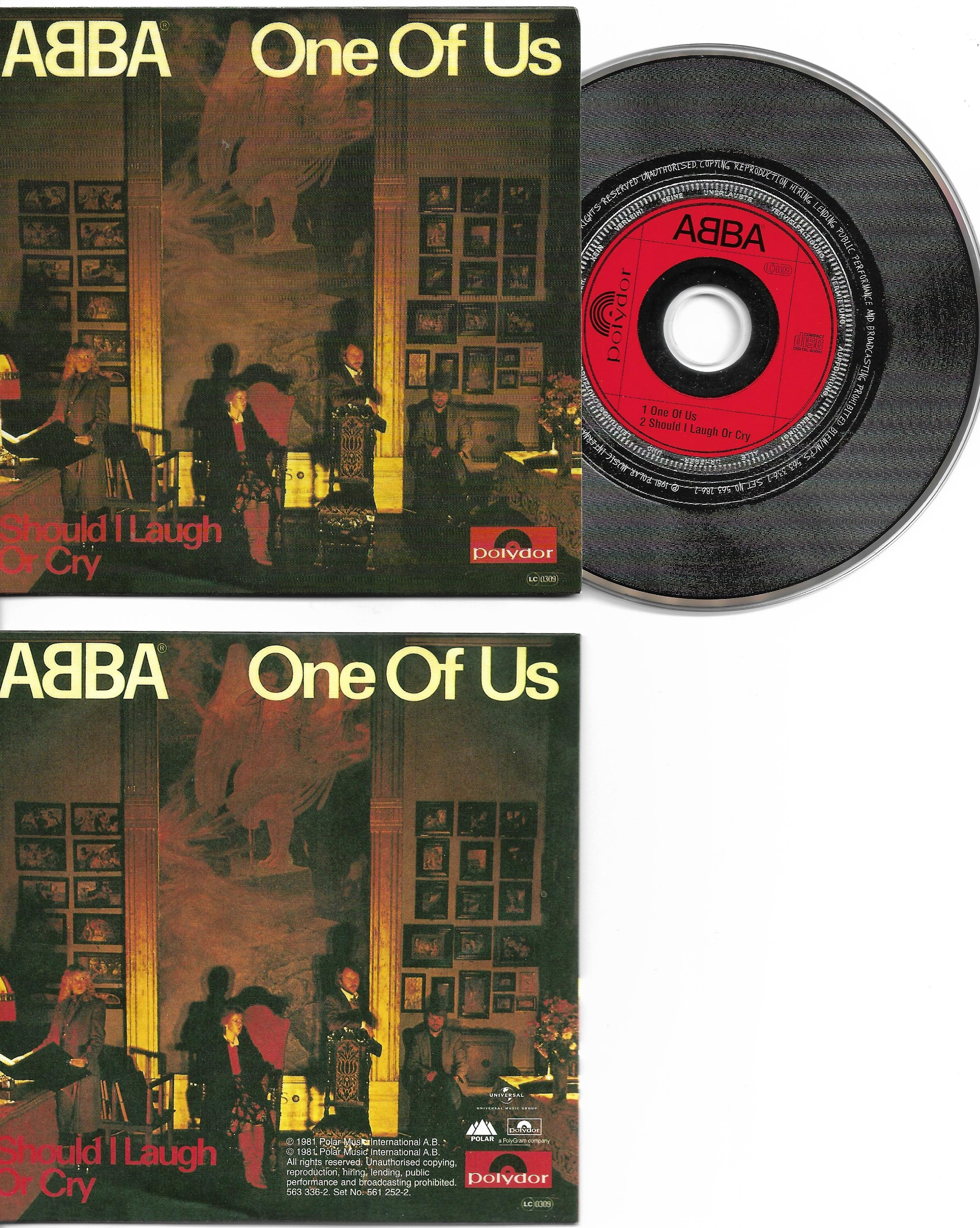 ABBA - One Of Us - Should I Laugh Or Cry 2-track Card Sleeve