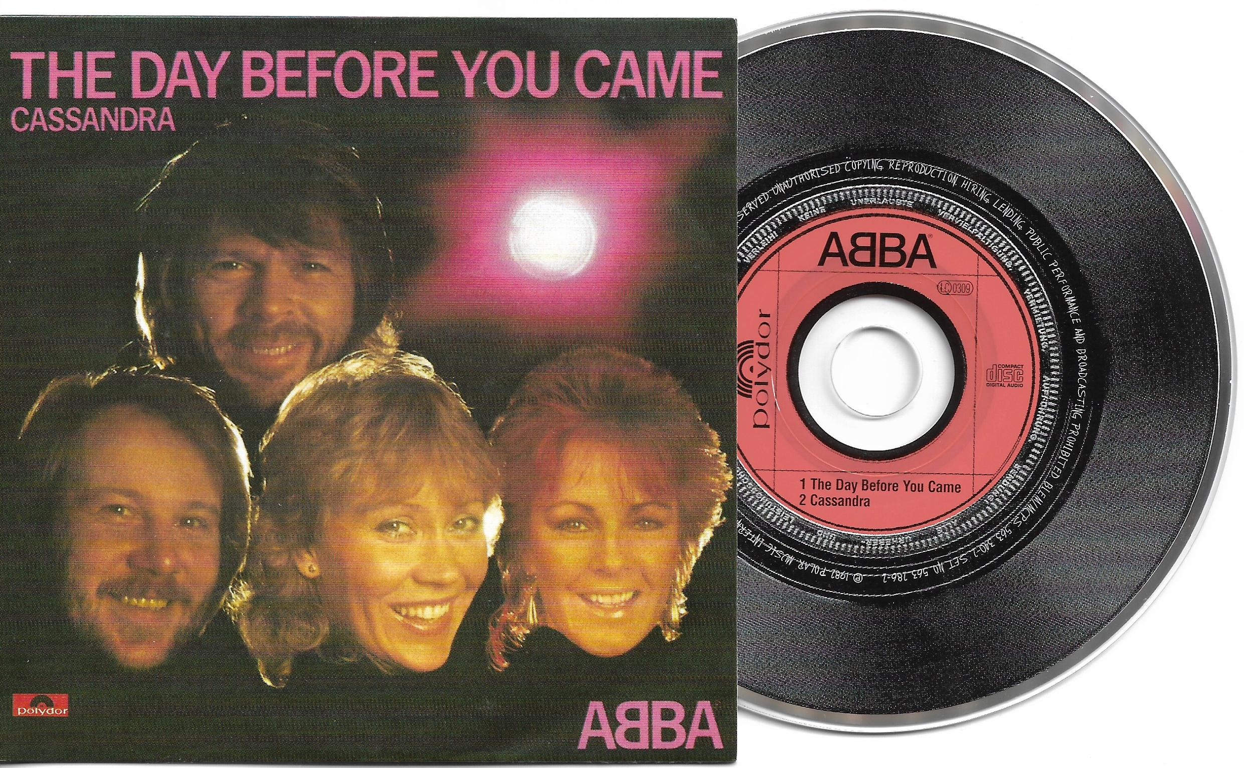 ABBA - The Day Before You Came 2-track Card Sleeve