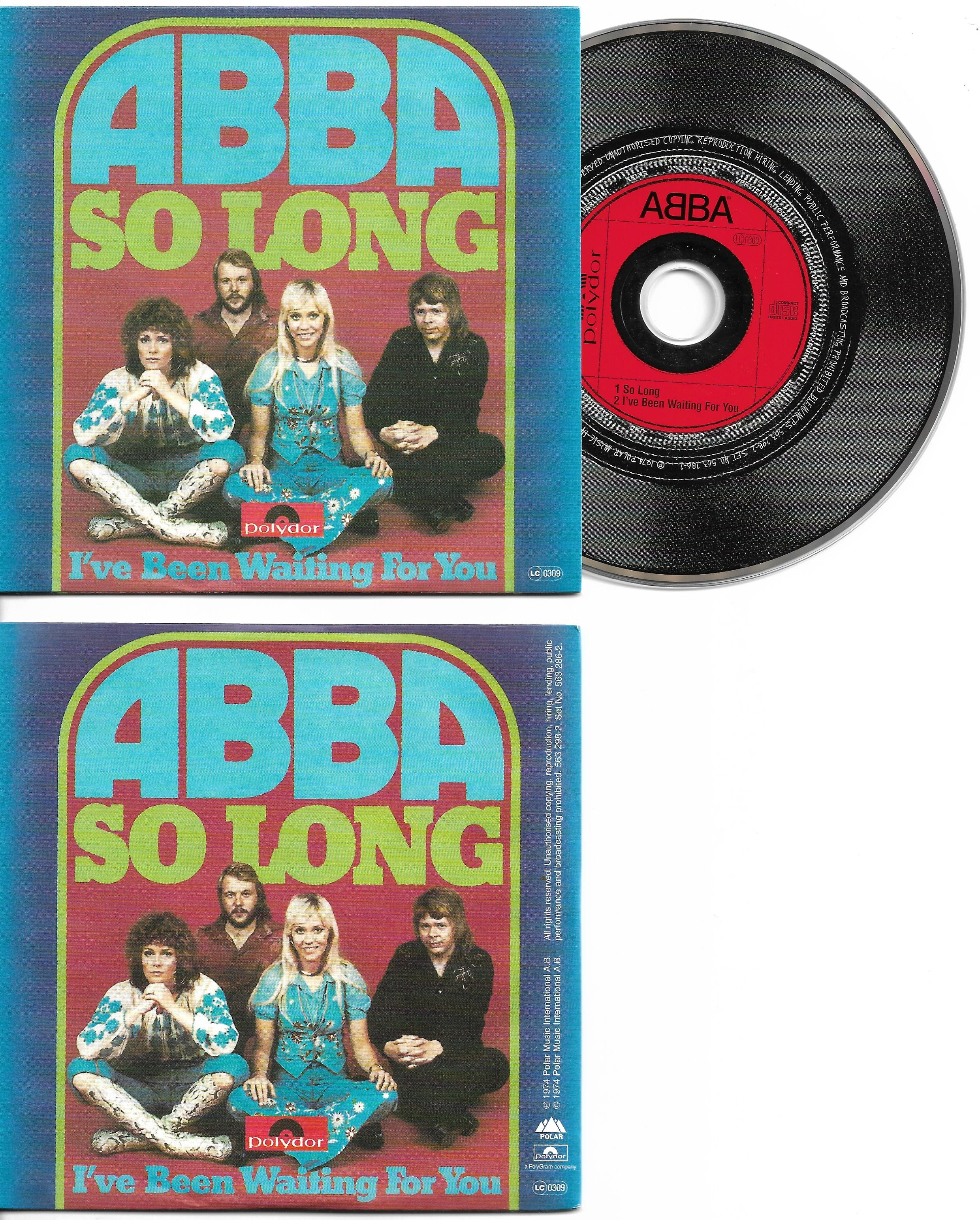 ABBA - So Long 2-track Card Sleeve