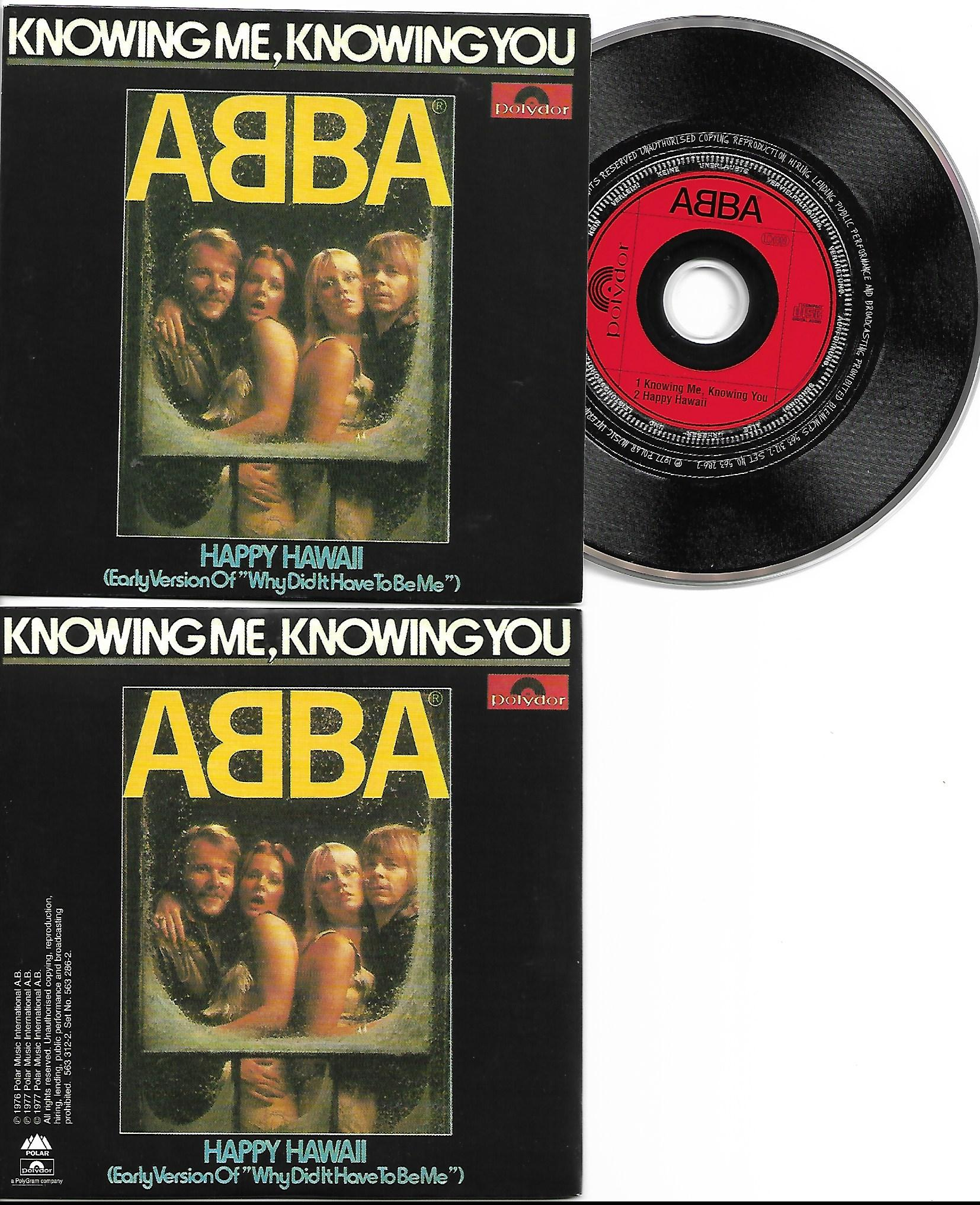 ABBA - Knowing Me Knowing You - Happy Hawa� - 2-track Card Sleeve