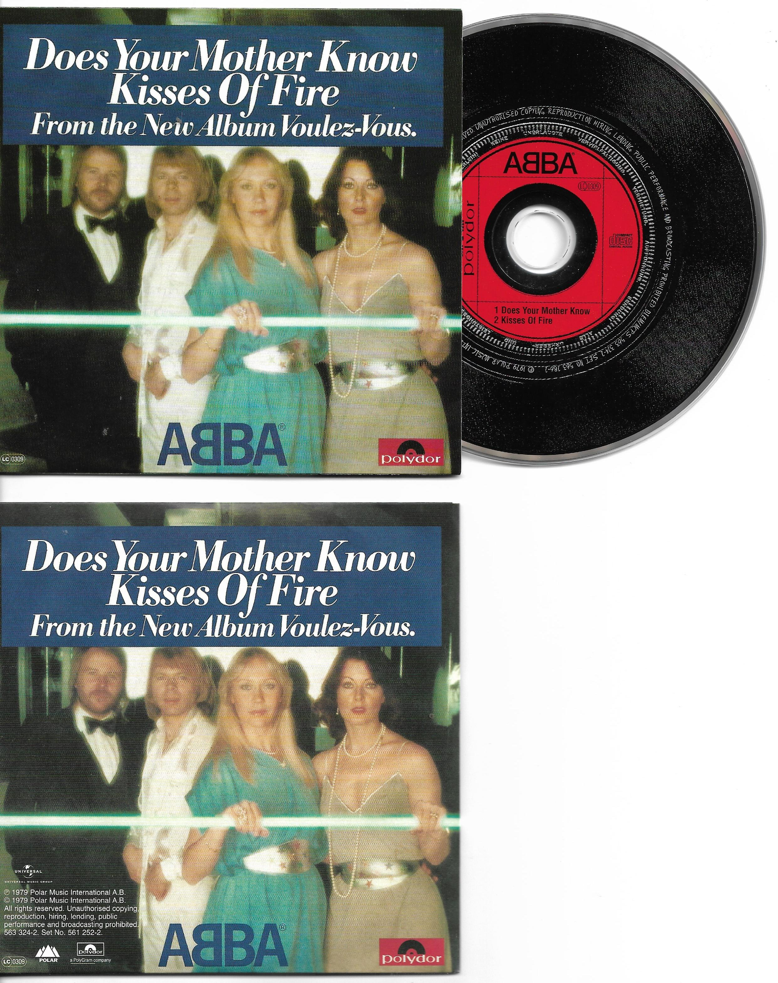 ABBA - Does Your Mother Know 2-track Card Sleeve