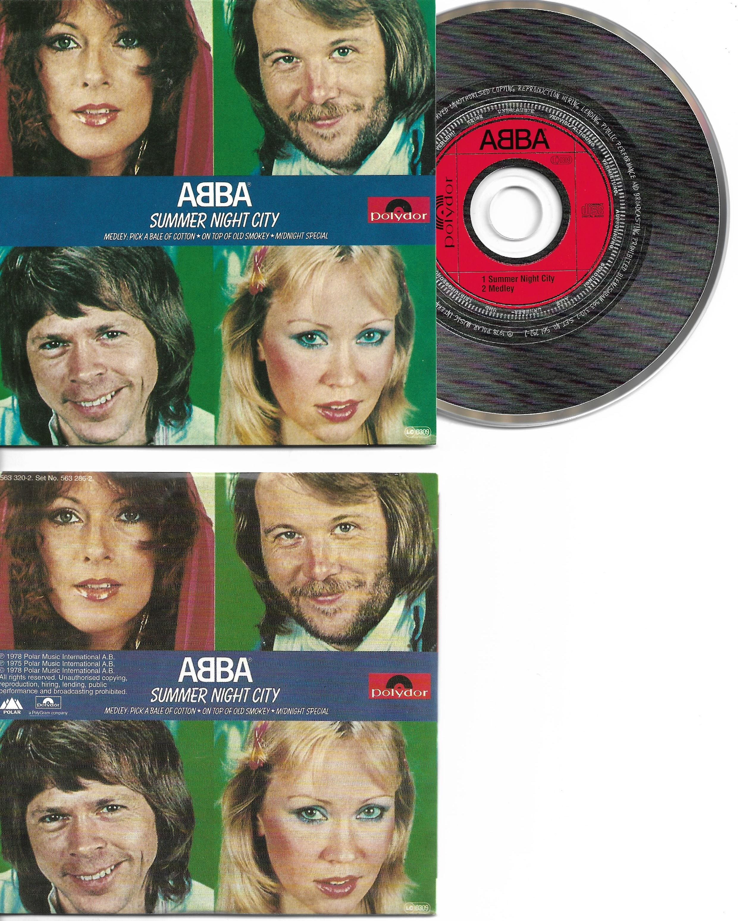 ABBA - Summer Night City 2-track Card Sleeve