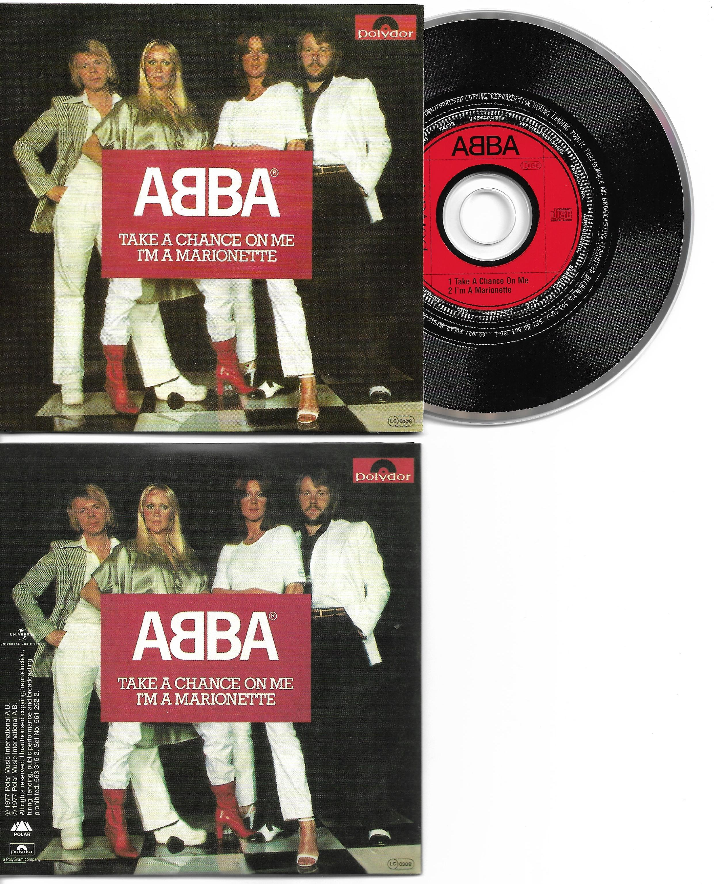 ABBA - Take A Chance On Me 2-track Card Sleeve