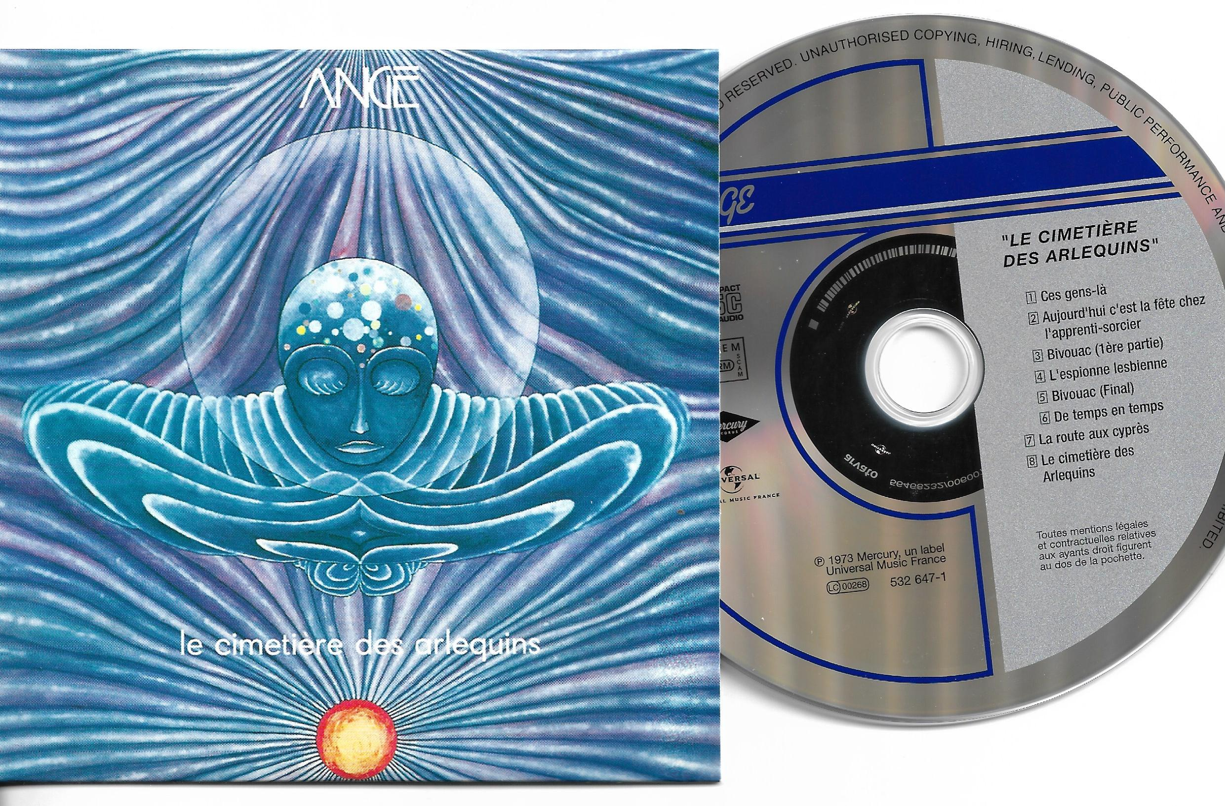 ANGE - Le cimetière des arlequins - MINI LP - 8-TRACK CARD SLEEVE - Pochette Cartonnée - CD