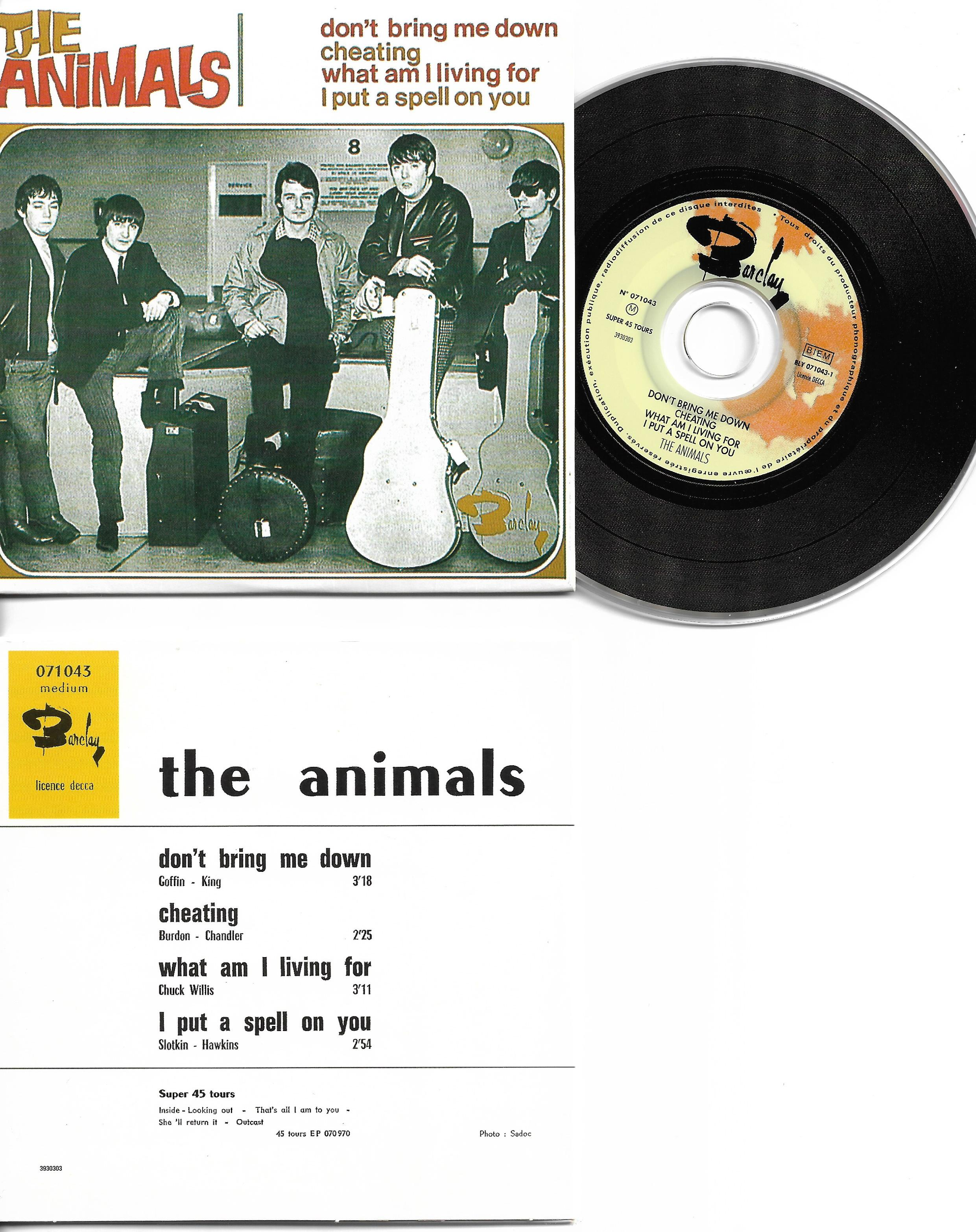 THE ANIMALS - Don't bring me down - EP - 4-track CARD SLEEVE - French sleeve - Very Limited Edition - CD single
