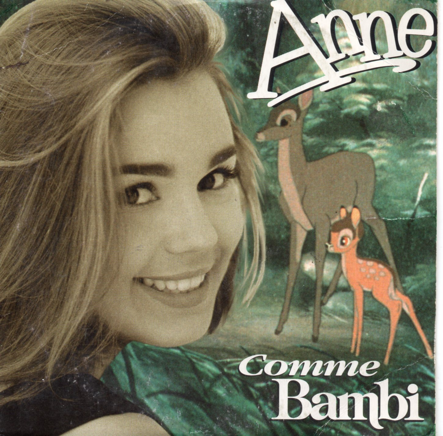 ANNE - WALT DISNEY - Comme Bambi 2-track CARD SLEEVE - CD single