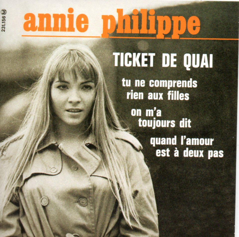 ANNIE PHILIPPE - PAUL MAURIAT - Ticket De Quai EP REPLICA 4-track CARD SLEEVE - CD single