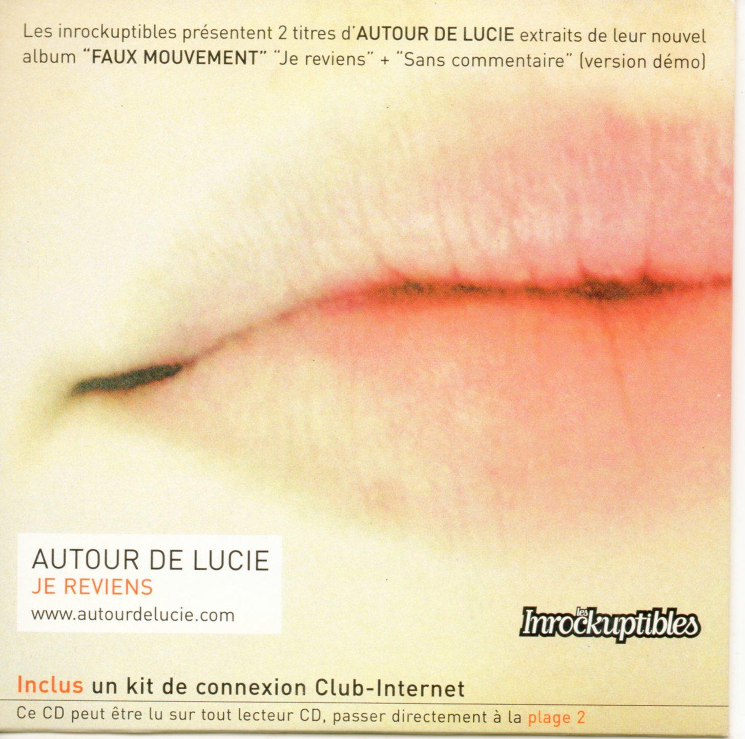 AUTOUR DE LUCIE - Je reviens Promo 2-track CARD SLEEVE - CD single