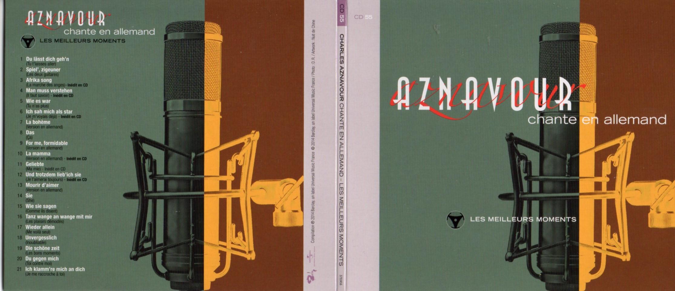 CHARLES AZNAVOUR - Chante en Allemand - Singt Deutsch - Les meilleurs moments Gatefold Card board sleeve - CD