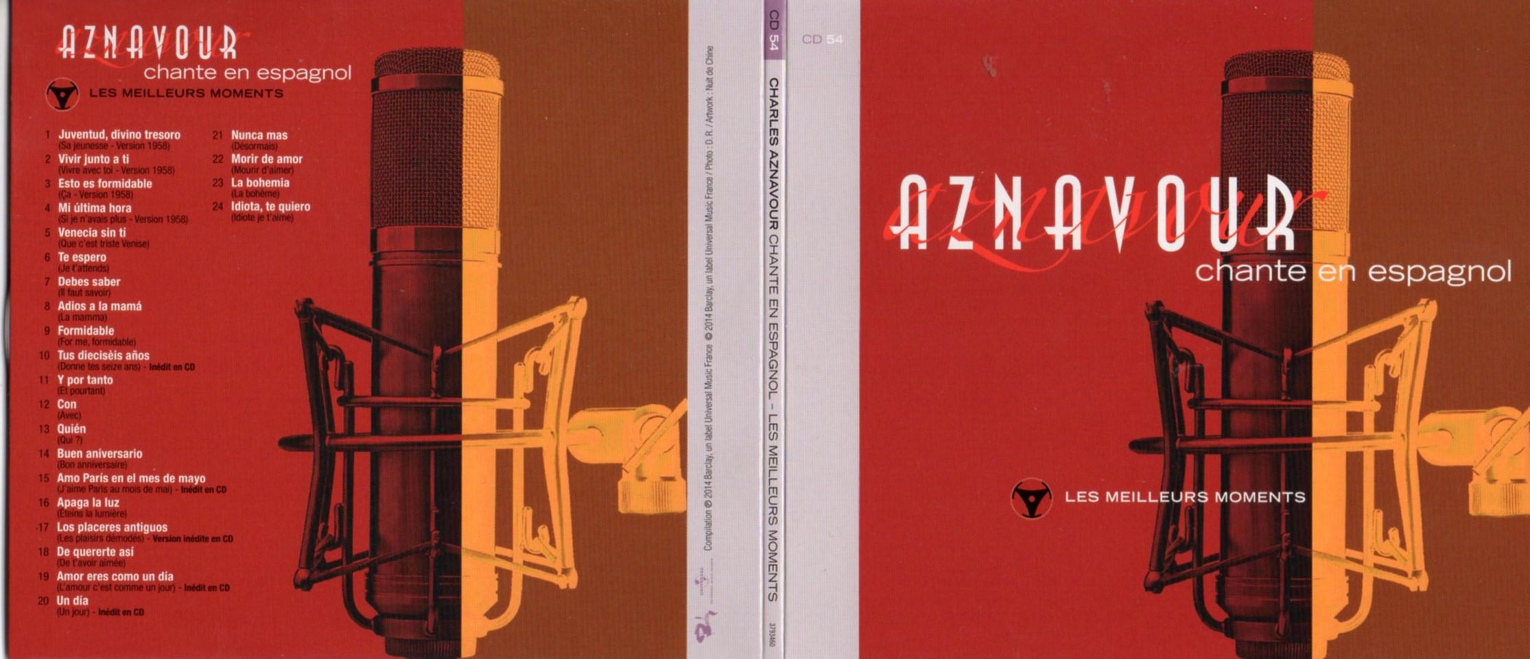 CHARLES AZNAVOUR - Chante en Espagnol - Canta en Español - Les meilleurs moments Gatefold Card board sleeve - CD