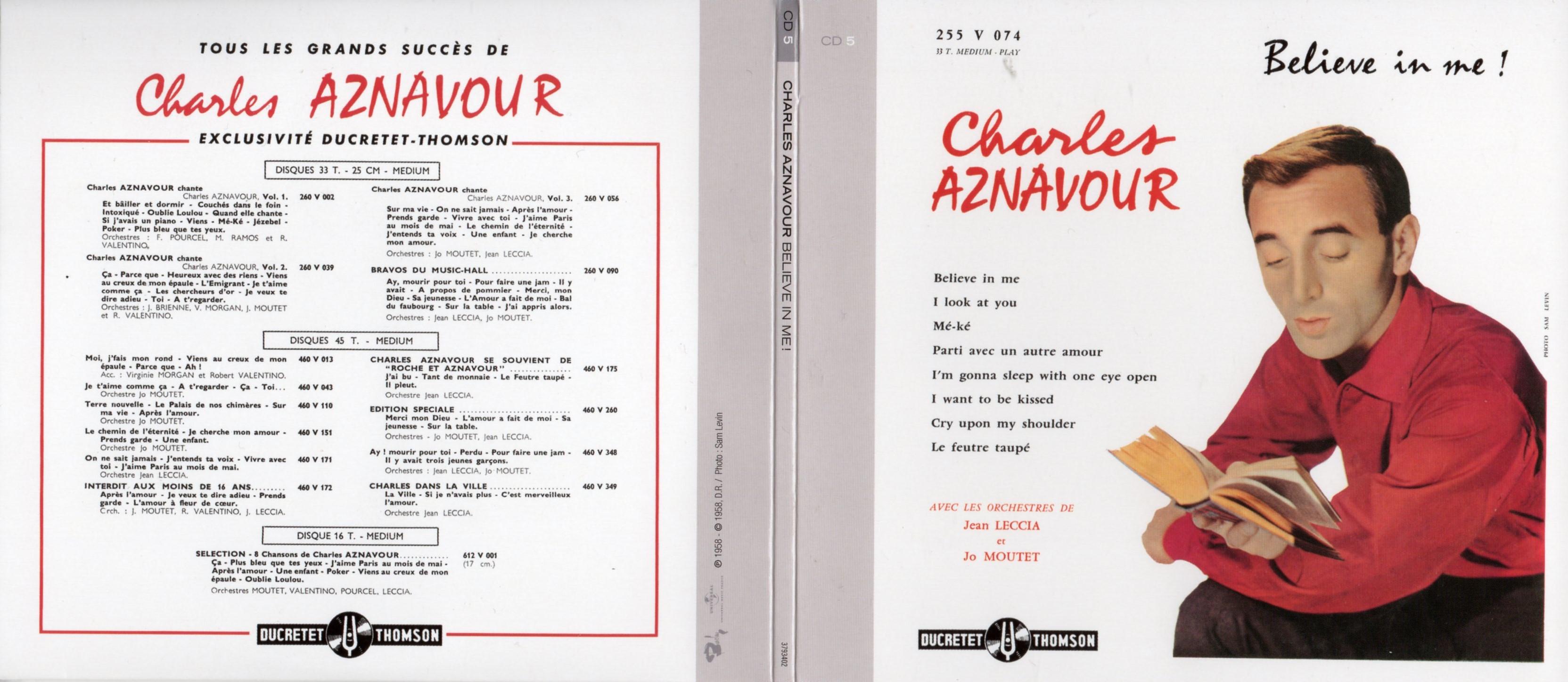 CHARLES AZNAVOUR - Believe in me ! (1958) Gatefold Card board REPLICA sleeve - CD