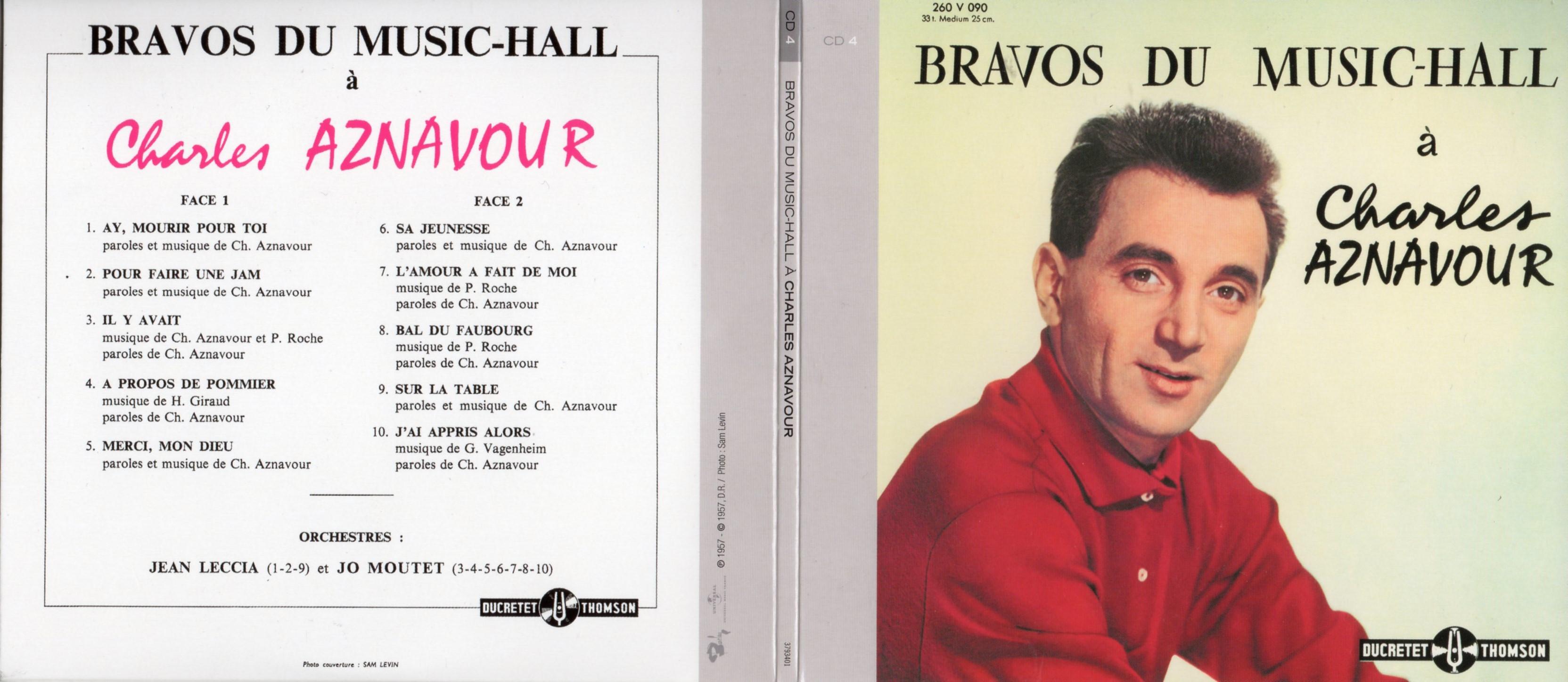 CHARLES AZNAVOUR - Bravos du Music-Hall (1957) Gatefold Card board REPLICA sleeve - CD