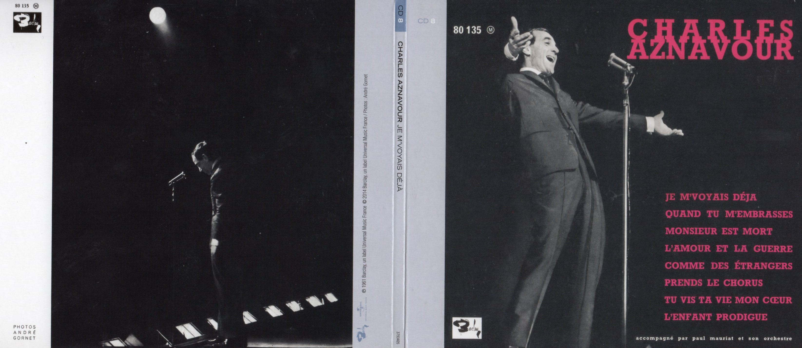 CHARLES AZNAVOUR - Je m'voyais déjà (1961) Gatefold Card board sleeve Replica - CD
