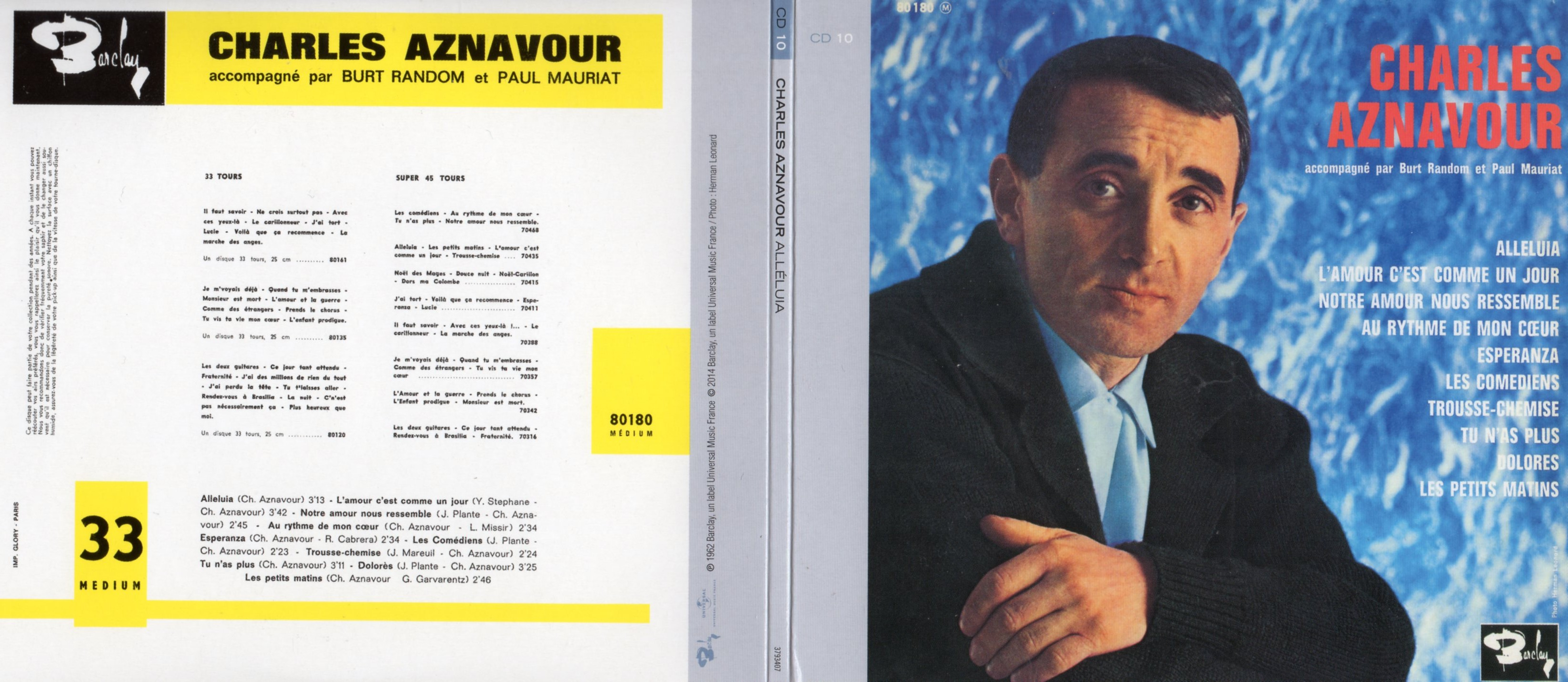 CHARLES AZNAVOUR - Alléluia (1962) Gatefold Card board sleeve Replica - CD