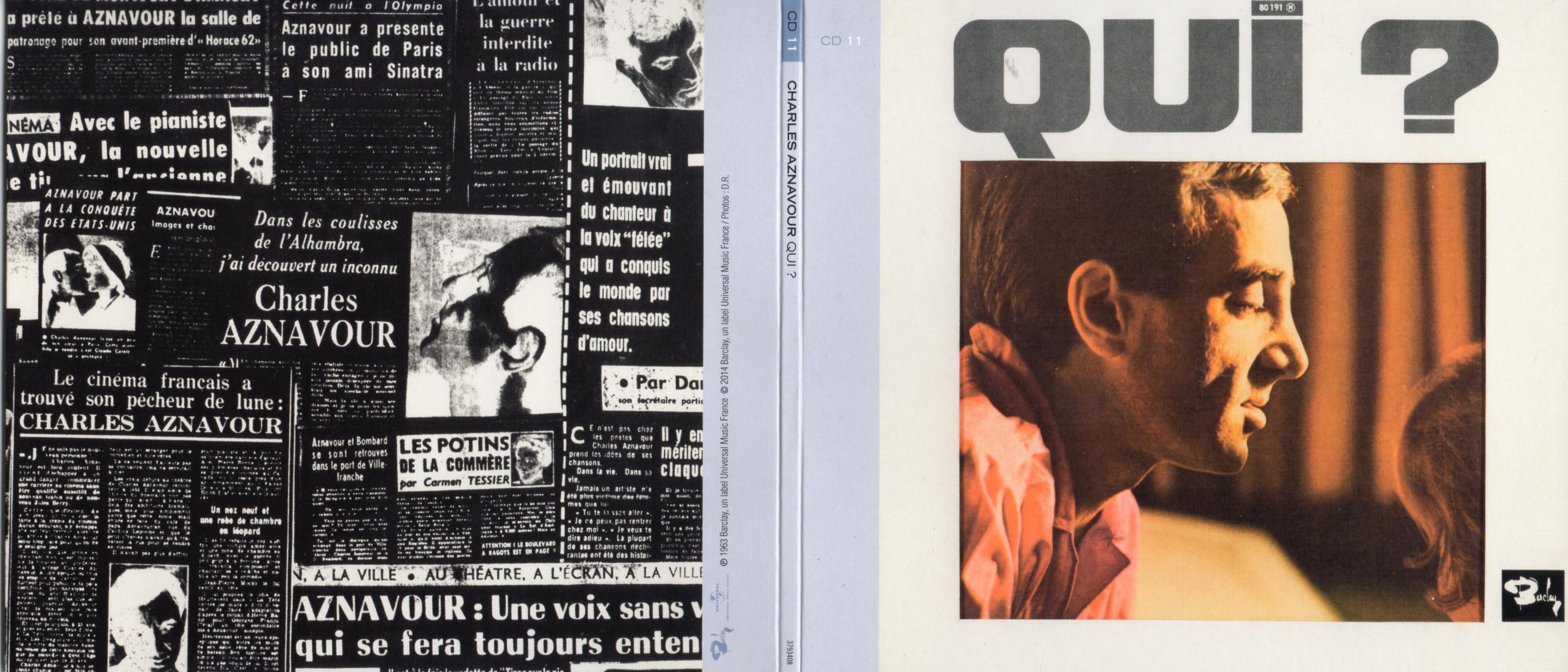 CHARLES AZNAVOUR - Qui (1963) Gatefold Card board sleeve Replica - CD