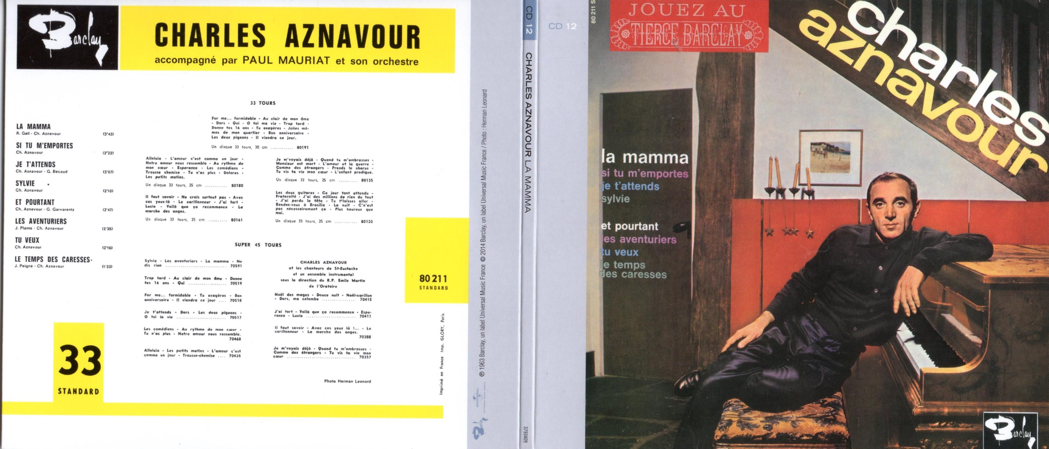 CHARLES AZNAVOUR - La Mamma (1963) Gatefold Card board sleeve Replica - CD