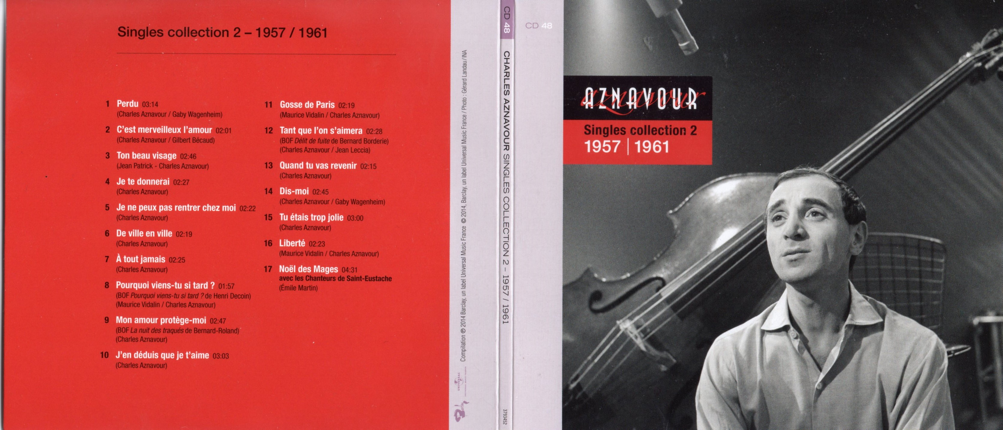 CHARLES AZNAVOUR - Singles Collection Vol 2 (1957 - 1958) Gatefold Card board sleeve - CD