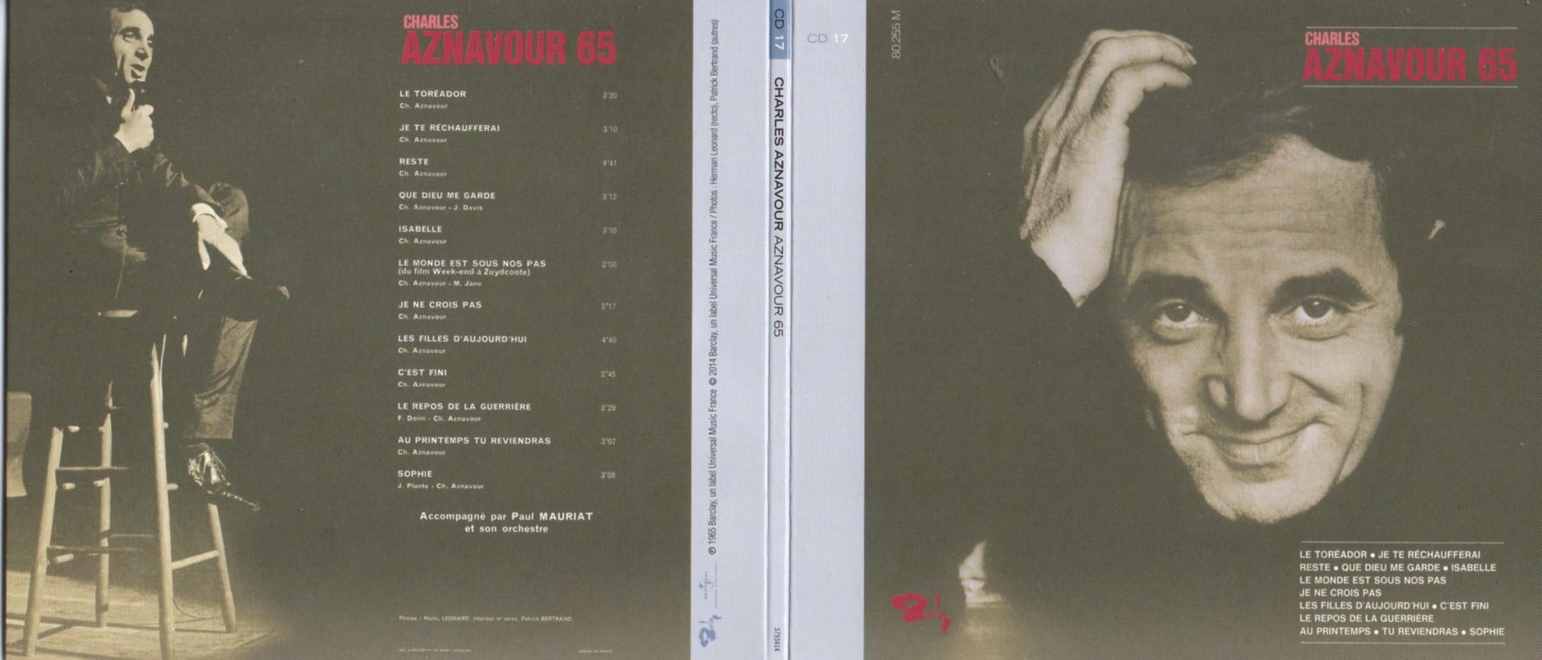CHARLES AZNAVOUR - AZNAVOUR 65 (1965) Gatefold Card board sleeve Replica - CD