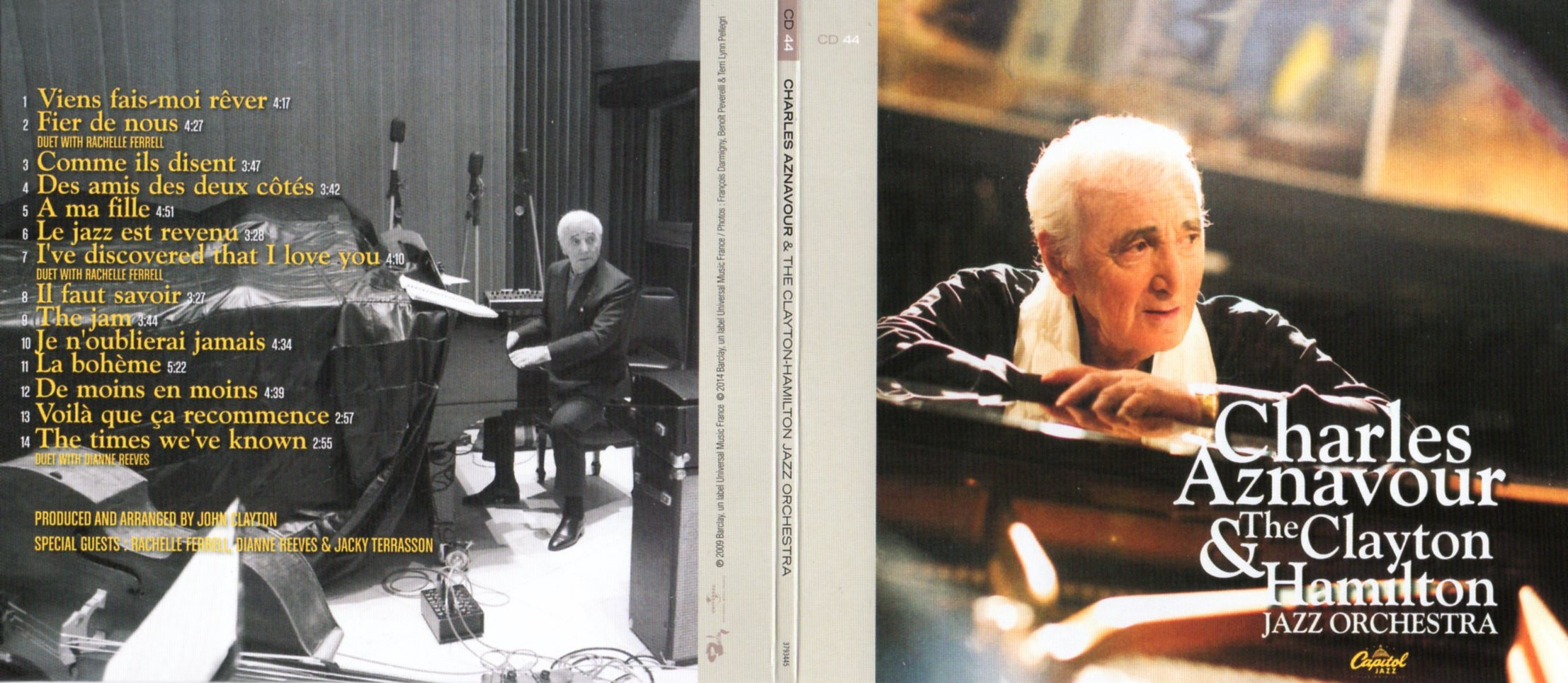 CHARLES AZNAVOUR - Charles Aznavour and The Clayton Hamilton Jazz Orchestra (2009) Gatefold Card board sleeve - CD