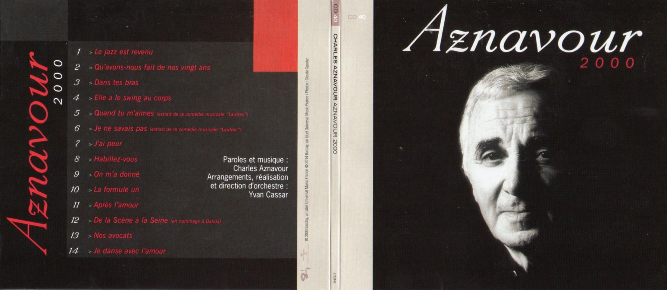 CHARLES AZNAVOUR - Aznavour 2000 (2000) Gatefold Card board sleeve - CD