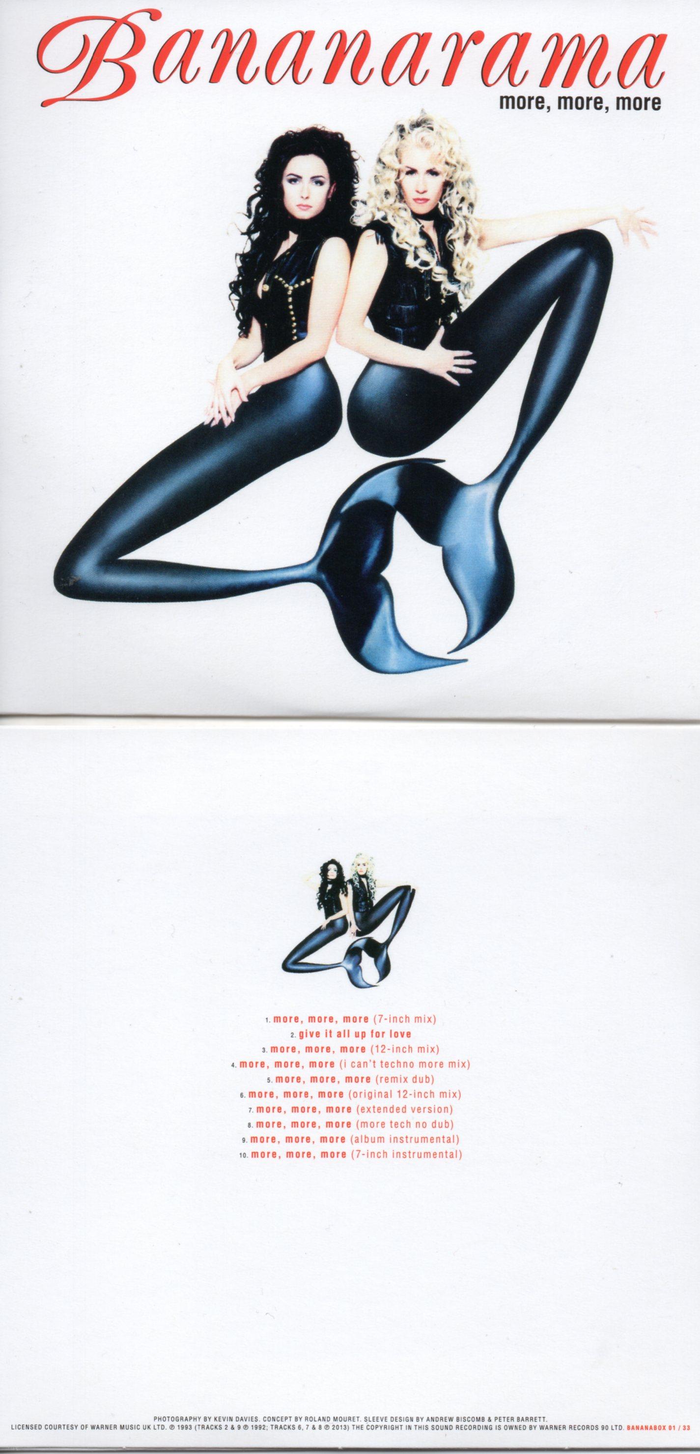 BANANARAMA - MORE, MORE, MORE (1993) 10-TRACK CARD SLEEVE - CD single