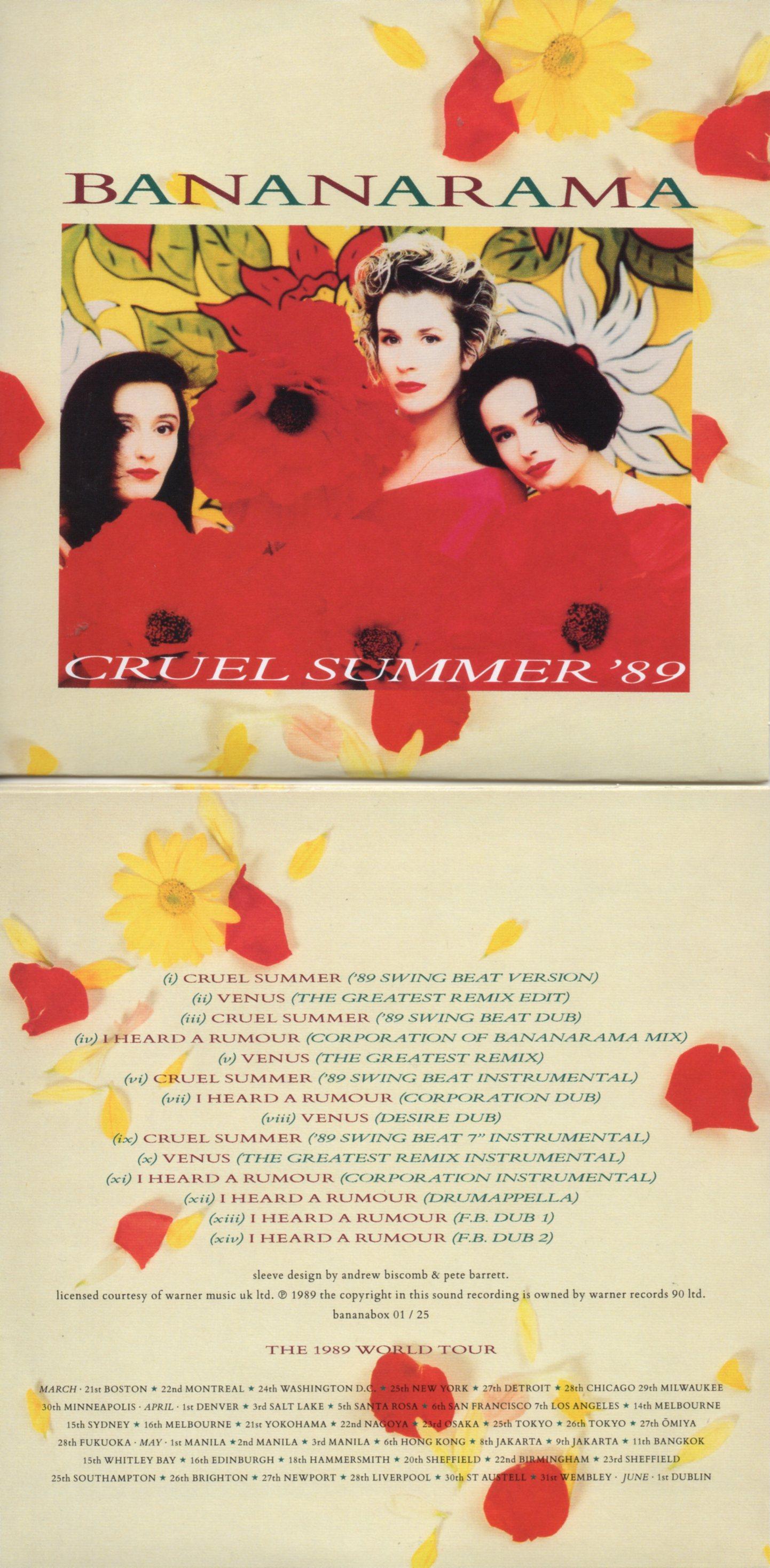 BANANARAMA - CRUEL SUMMER '89 (1989) 14-TRACK CARD SLEEVE - CD single