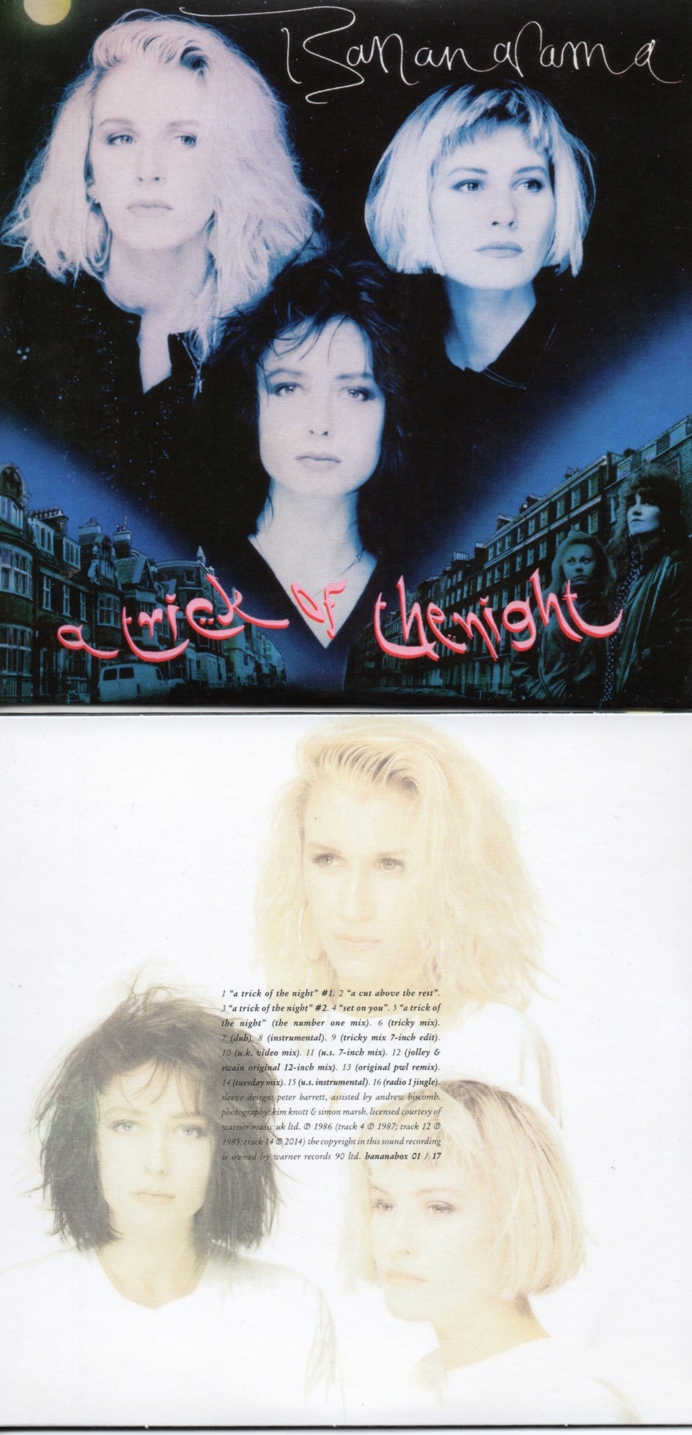 BANANARAMA - A TRICK OF THE NIGHT (1986) 16-TRACK CARD SLEEVE - CD single