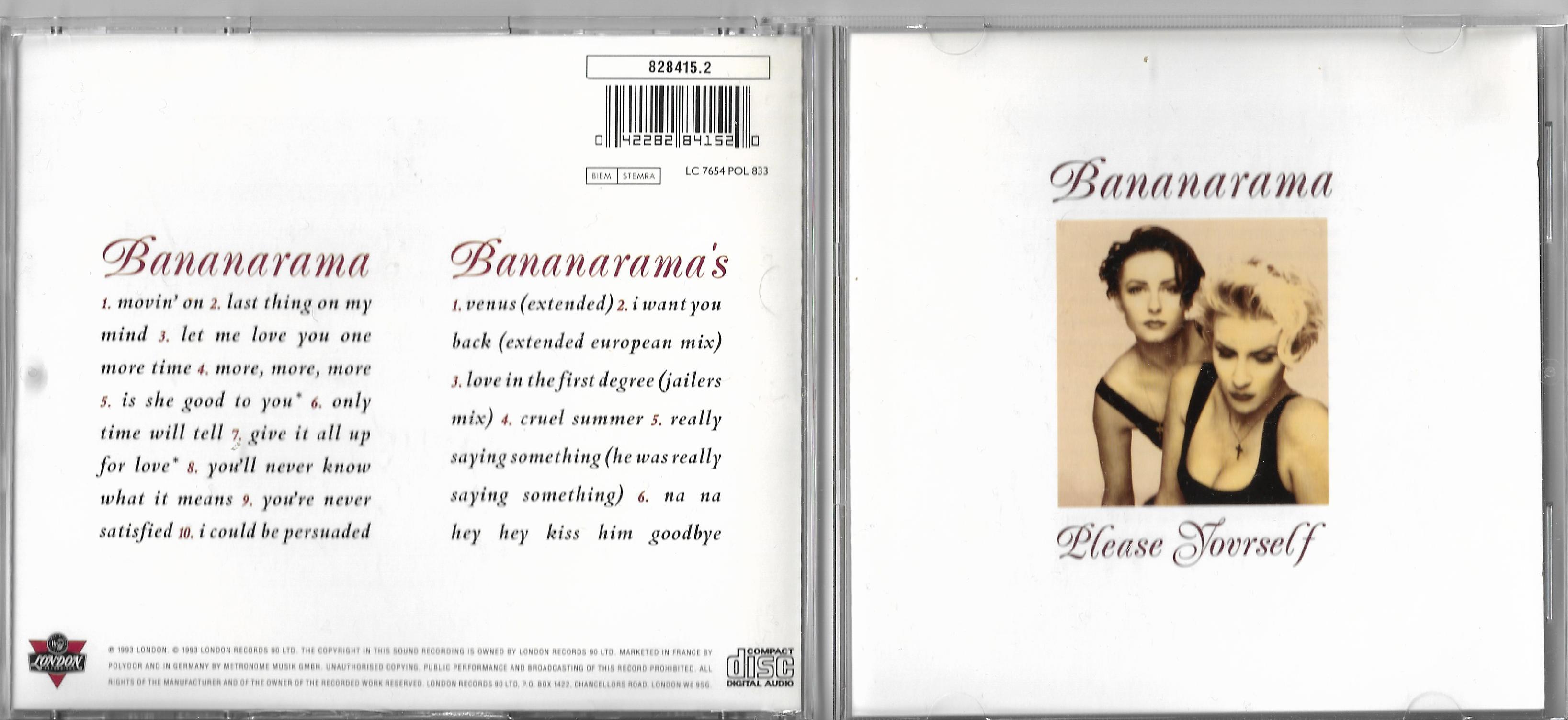 BANANARAMA - Please Yourself - CD x 2