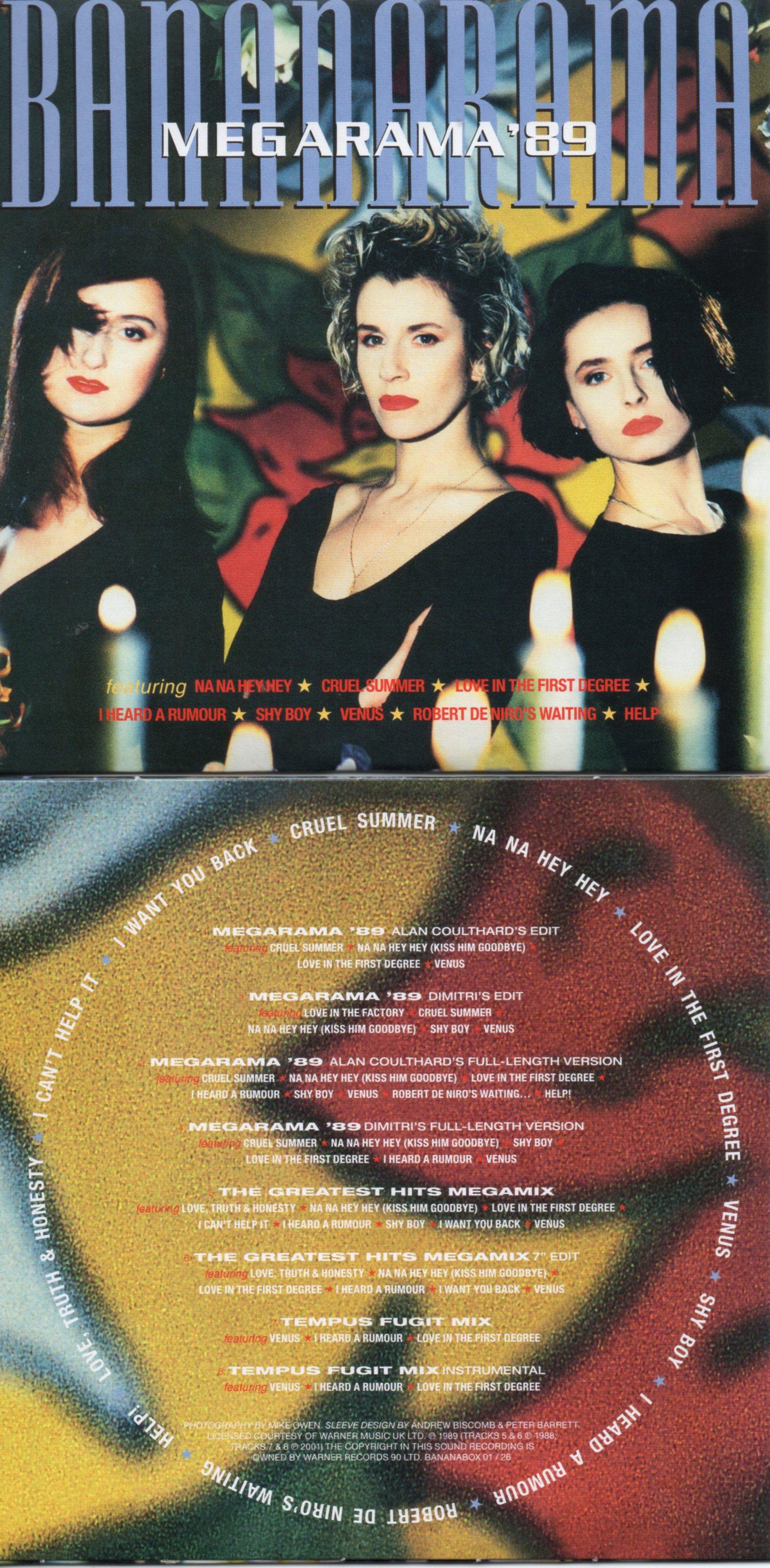BANANARAMA - MEGARAMA '89 (1989) 8-TRACK CARD SLEEVE - CD single