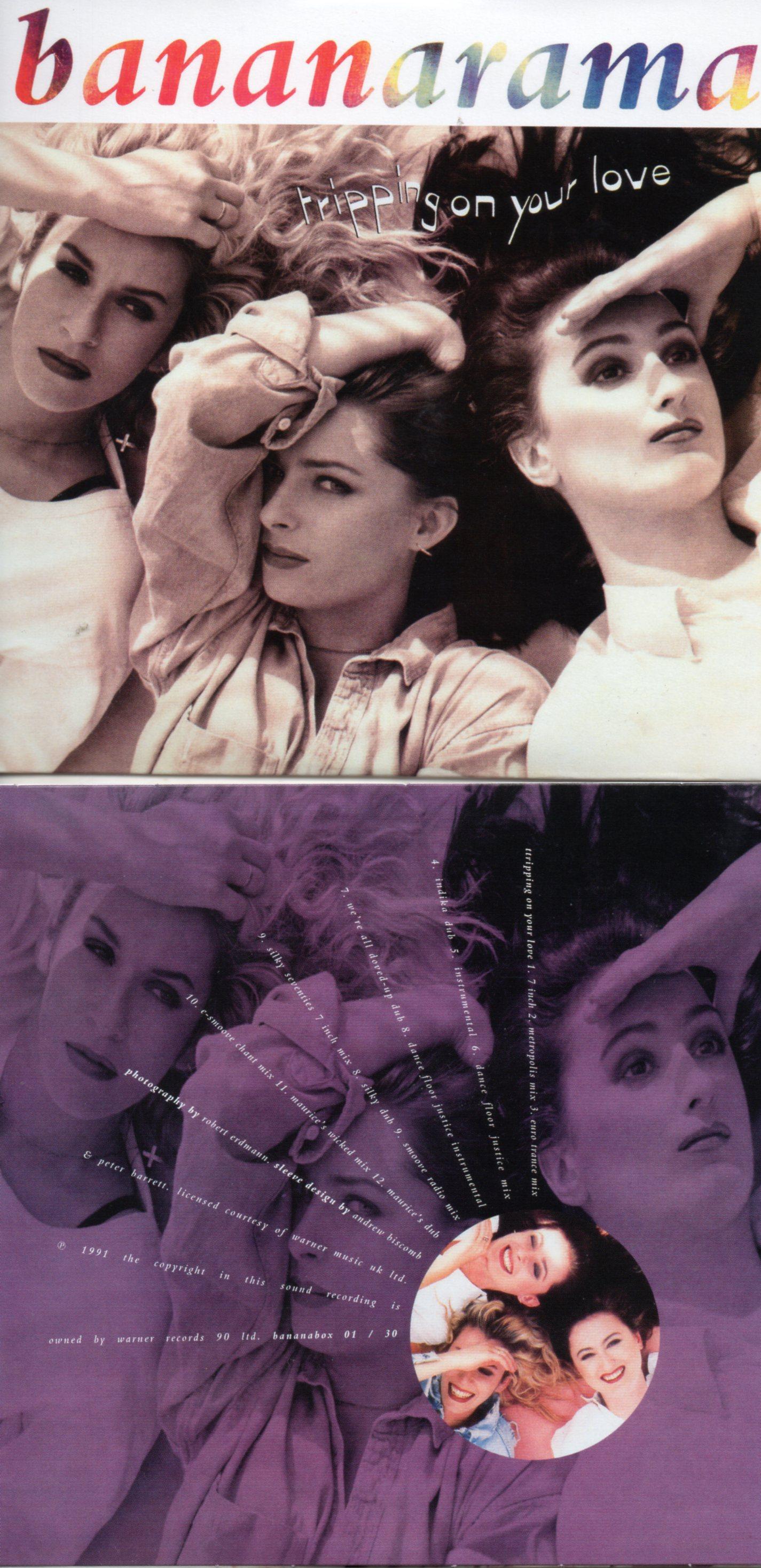 BANANARAMA - TRIPPING ON YOUR LOVE (1991) 14-TRACK CARD SLEEVE - CD single