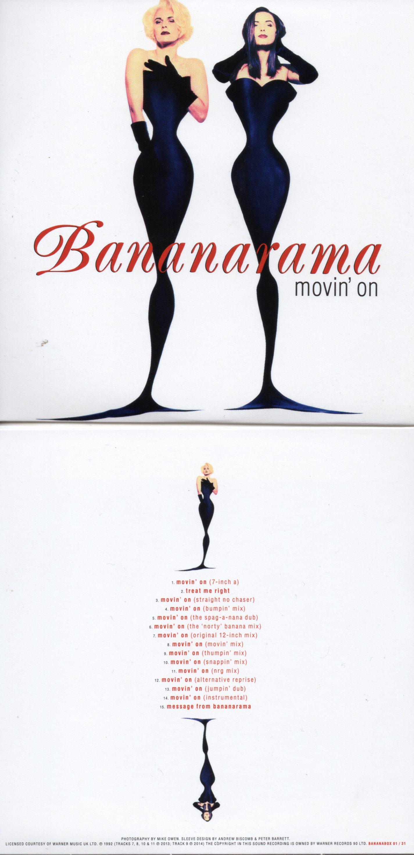 BANANARAMA - MOVIN' ON (1992) 15-TRACK CARD SLEEVE - CD single