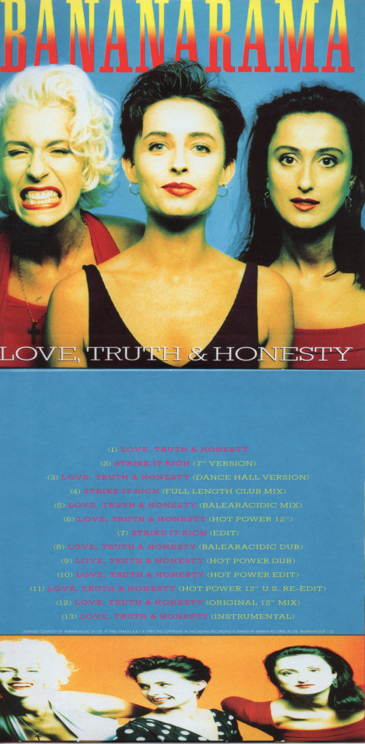 BANANARAMA - Love, Truth & Honesty (1988 13-track Card Sleeve)