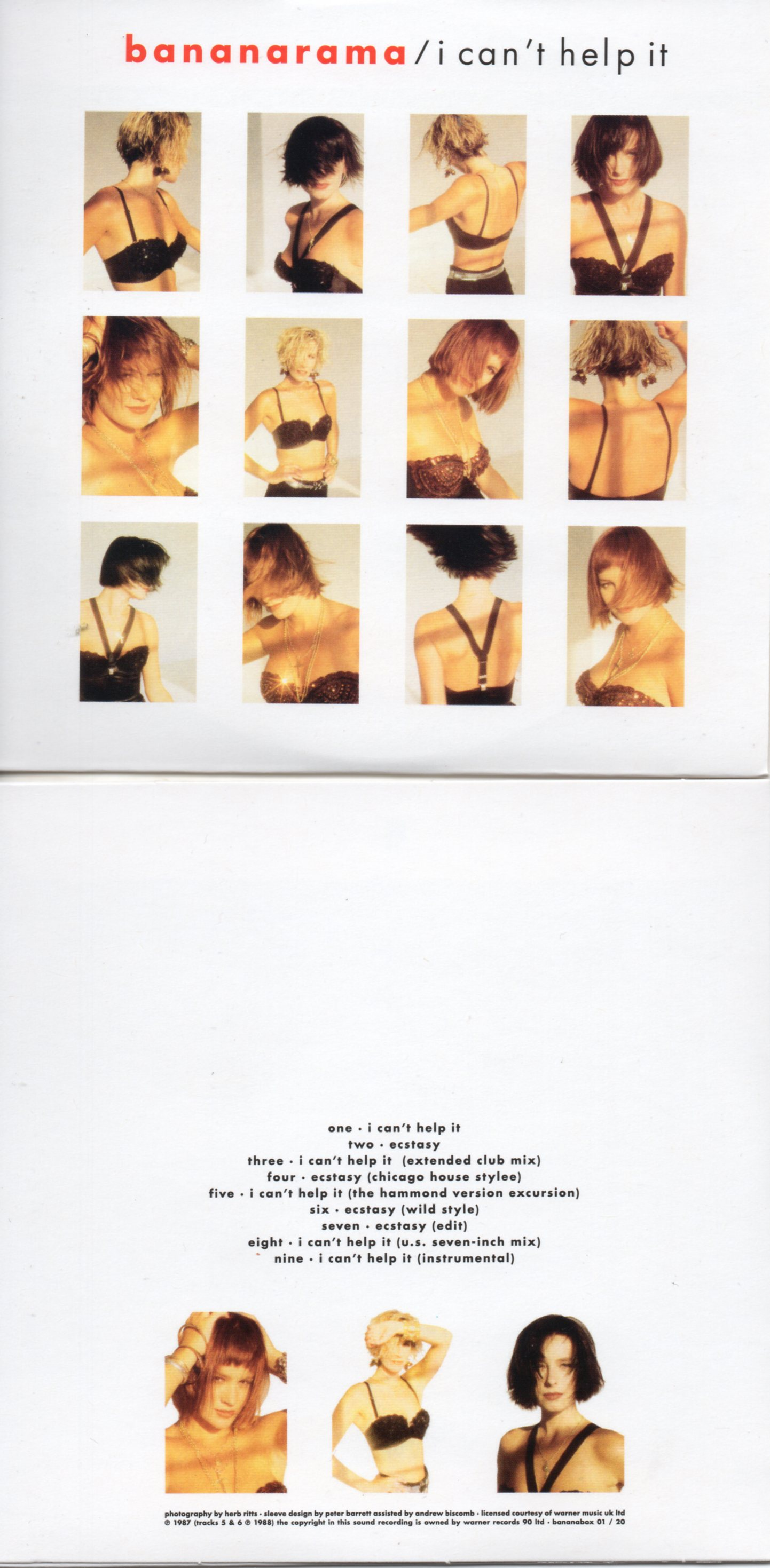 BANANARAMA - I Can't Help It (1987 9-track Card Sleeve)