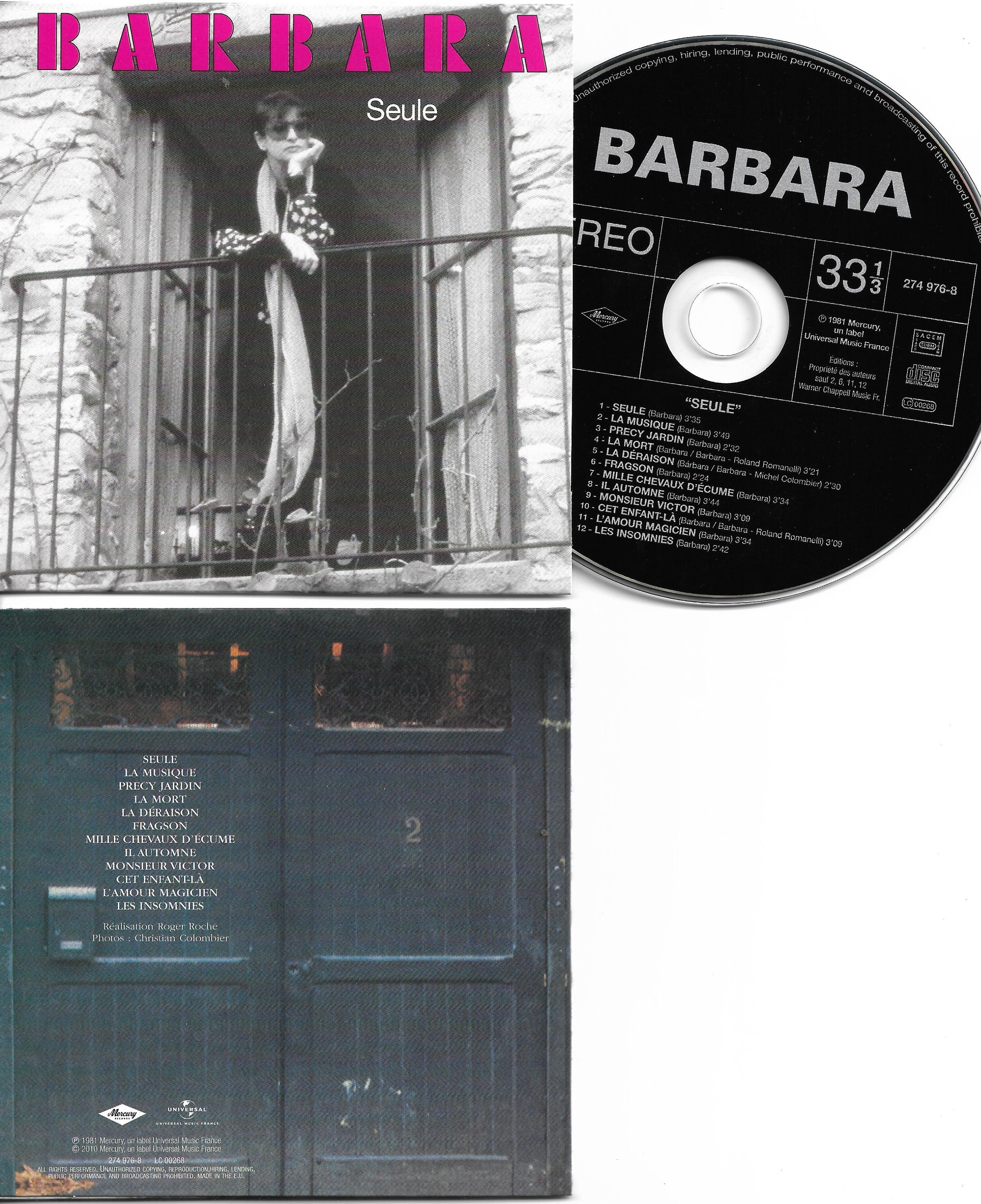 BARBARA - Seule - Mini LP 12-track CARD SLEEVE - CD