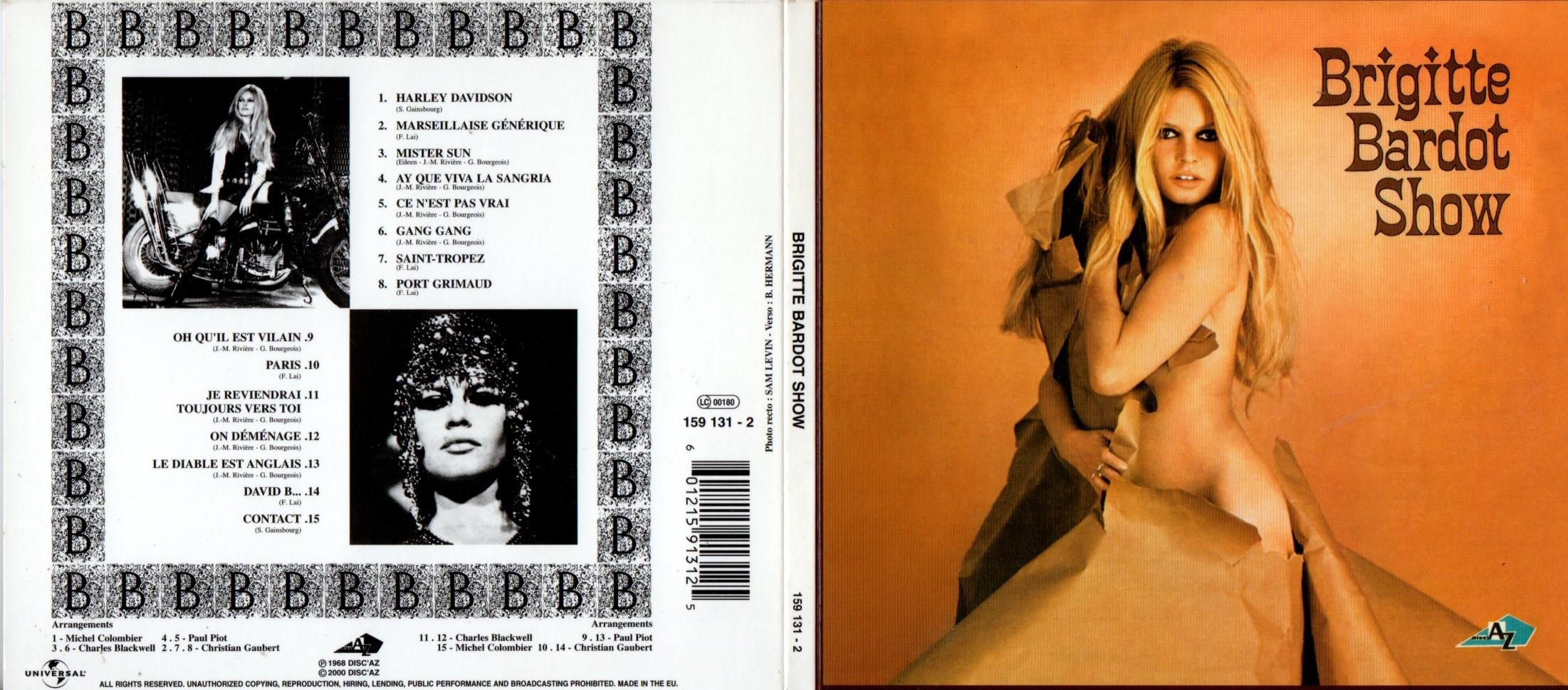BRIGITTE BARDOT - Show Ltd Edition Digipack - CD