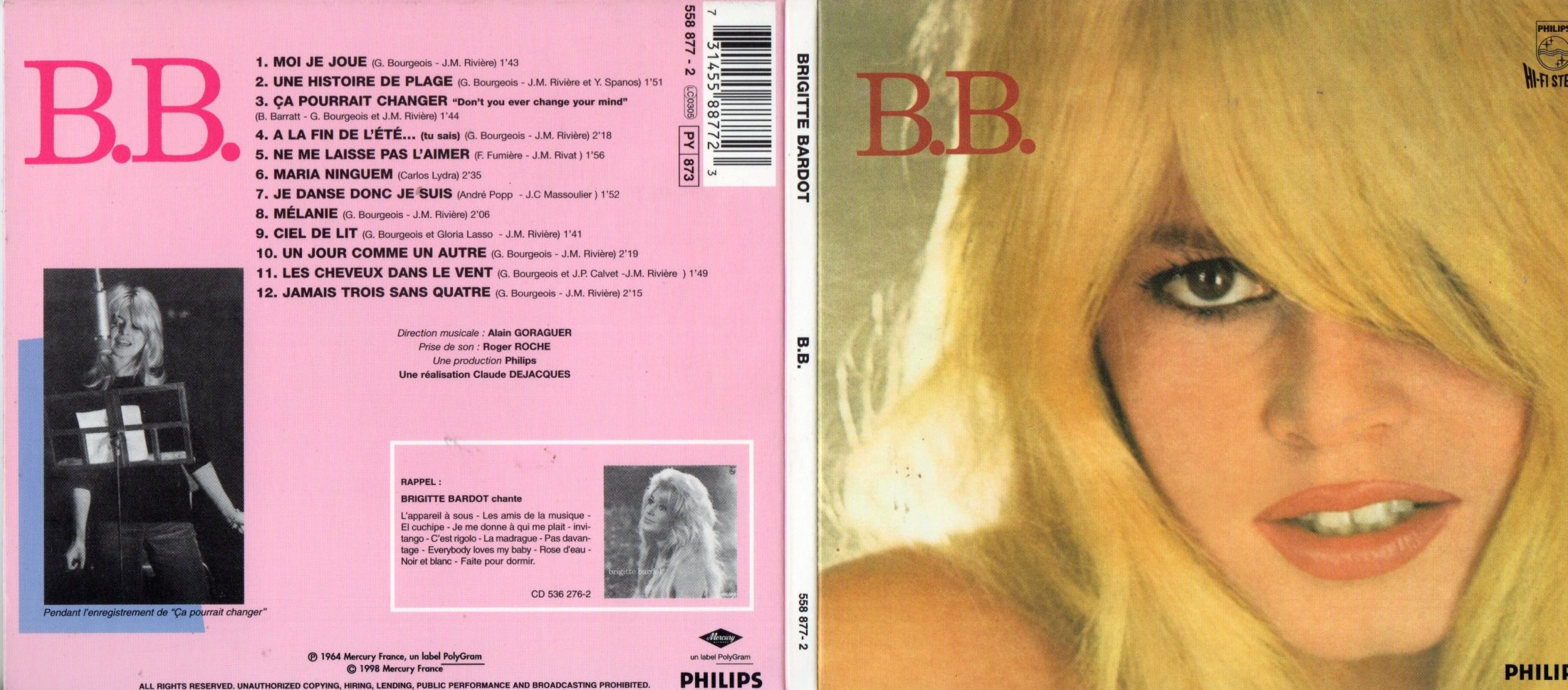 BRIGITTE BARDOT - B.B. Ltd Edition Digipack - CD