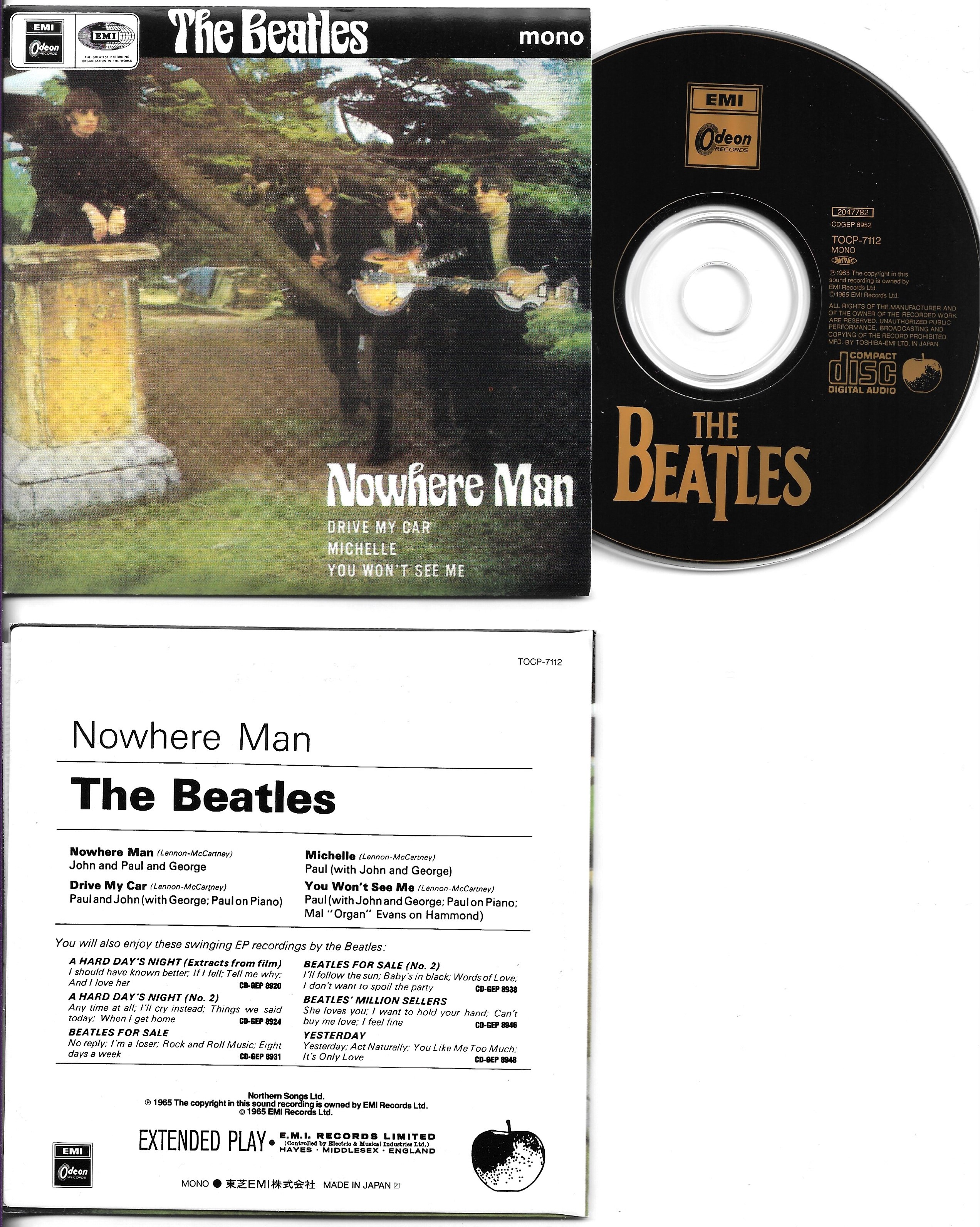 BEATLES - Nowhere Man Ep Replica 4-track Card Sleeve