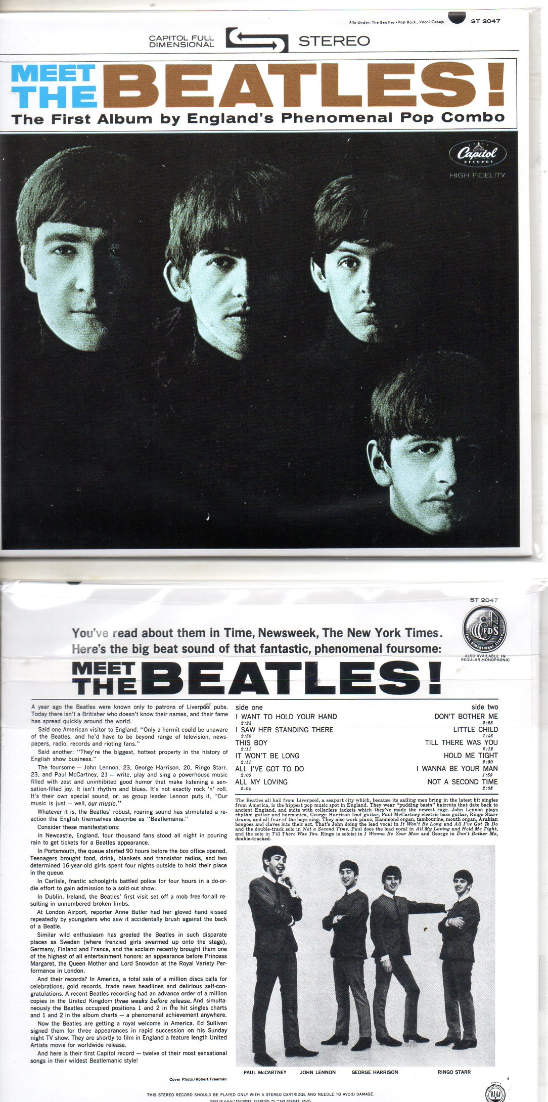 BEATLES - From Me To You 2-track Card Sleeve
