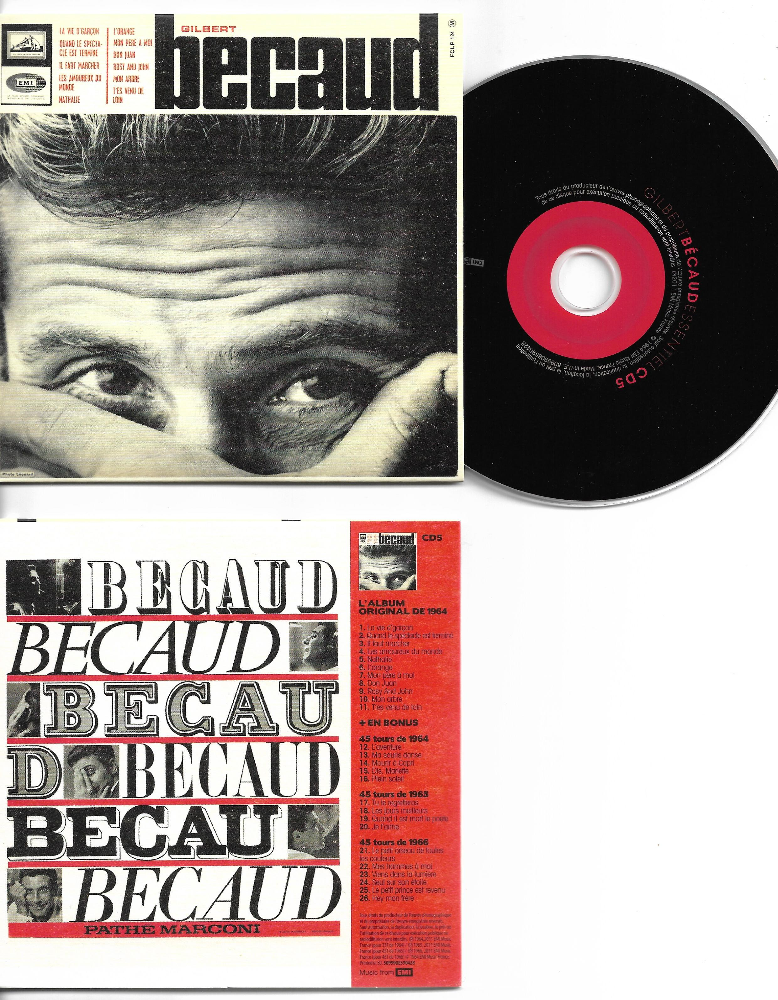 GILBERT BÉCAUD - L'orange (1964 - 1965 - 1966) MINI LP REPLICA CARD SLEEVE 26-TRACK - CD