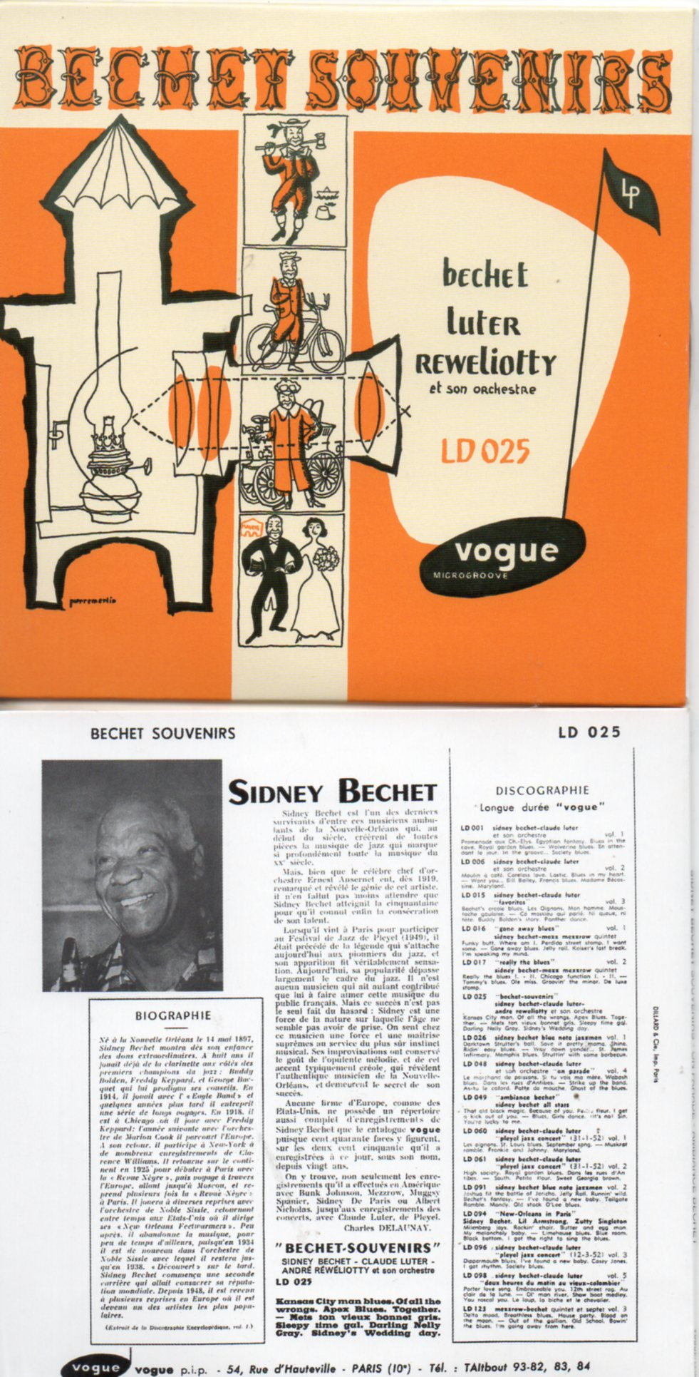 SIDNEY BECHET - Souvenirs – On Parade – Ambiance Bechet (1951 -1952) - MINI LP REPLICA CARD SLEEVE 16-track - CD