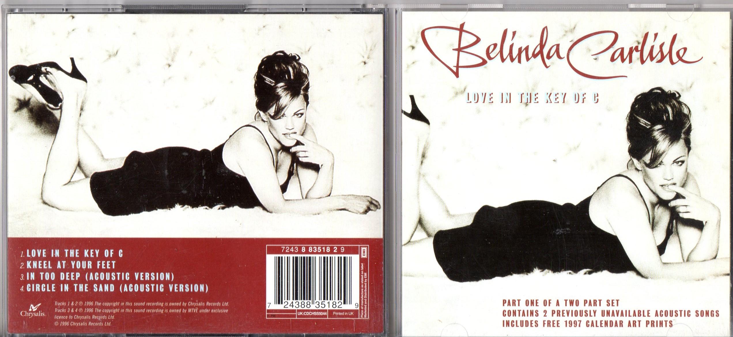 Belinda CARLISLE - Bigscaryanimal 3 Tracks Jewel Case