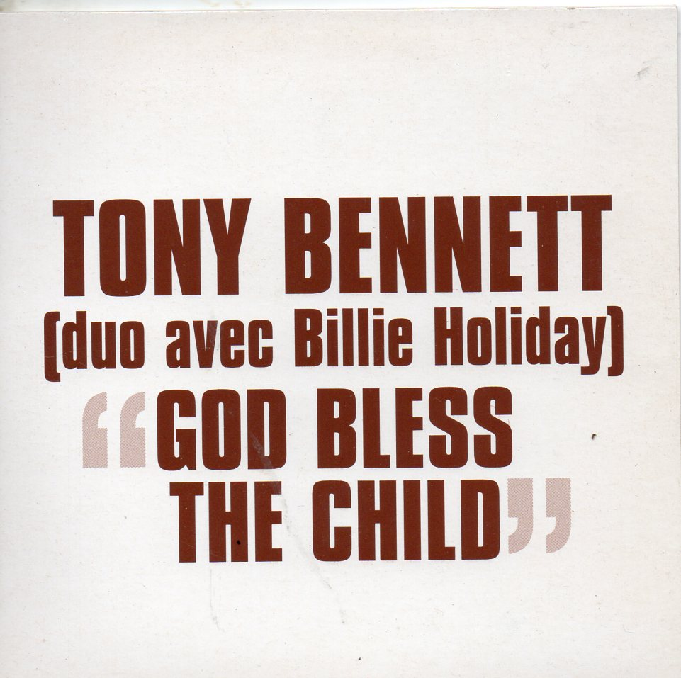 TONY BENNETT & BILLIE HOLIDAY - God bless the child - French Promo 1-track CARD SLEEVE - CD single