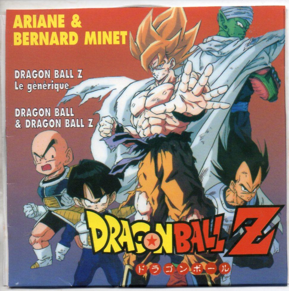 ARIANE & BERNARD MINET - Dragon Ball Z - Le générique 2-track CARD SLEEVE - CD single