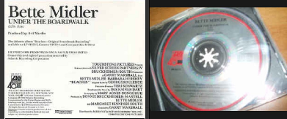 BETTE MIDLER - Under The Boardwalk Promo 1-track - CD single