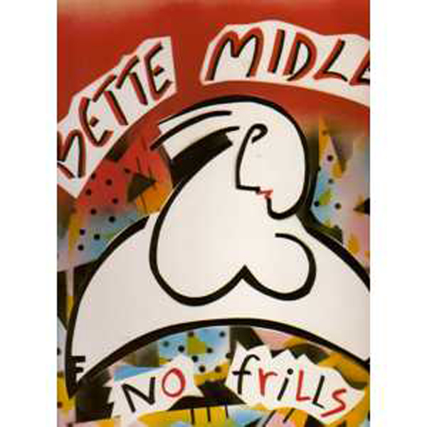 BETTE MIDLER - No frills Promo Sticker USA - 33T