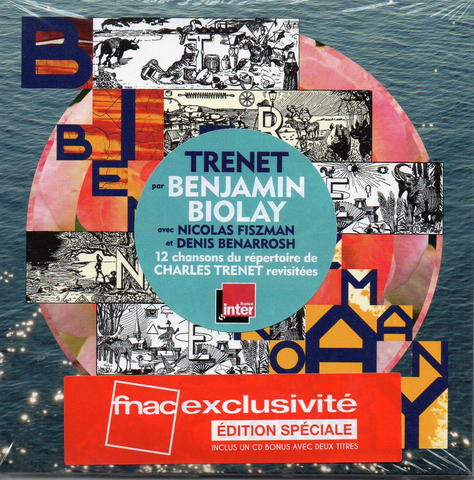 BENJAMIN BIOLAY - CHARLES TRENET - Trenet - Edition Spéciale 2 CD - CD x 2