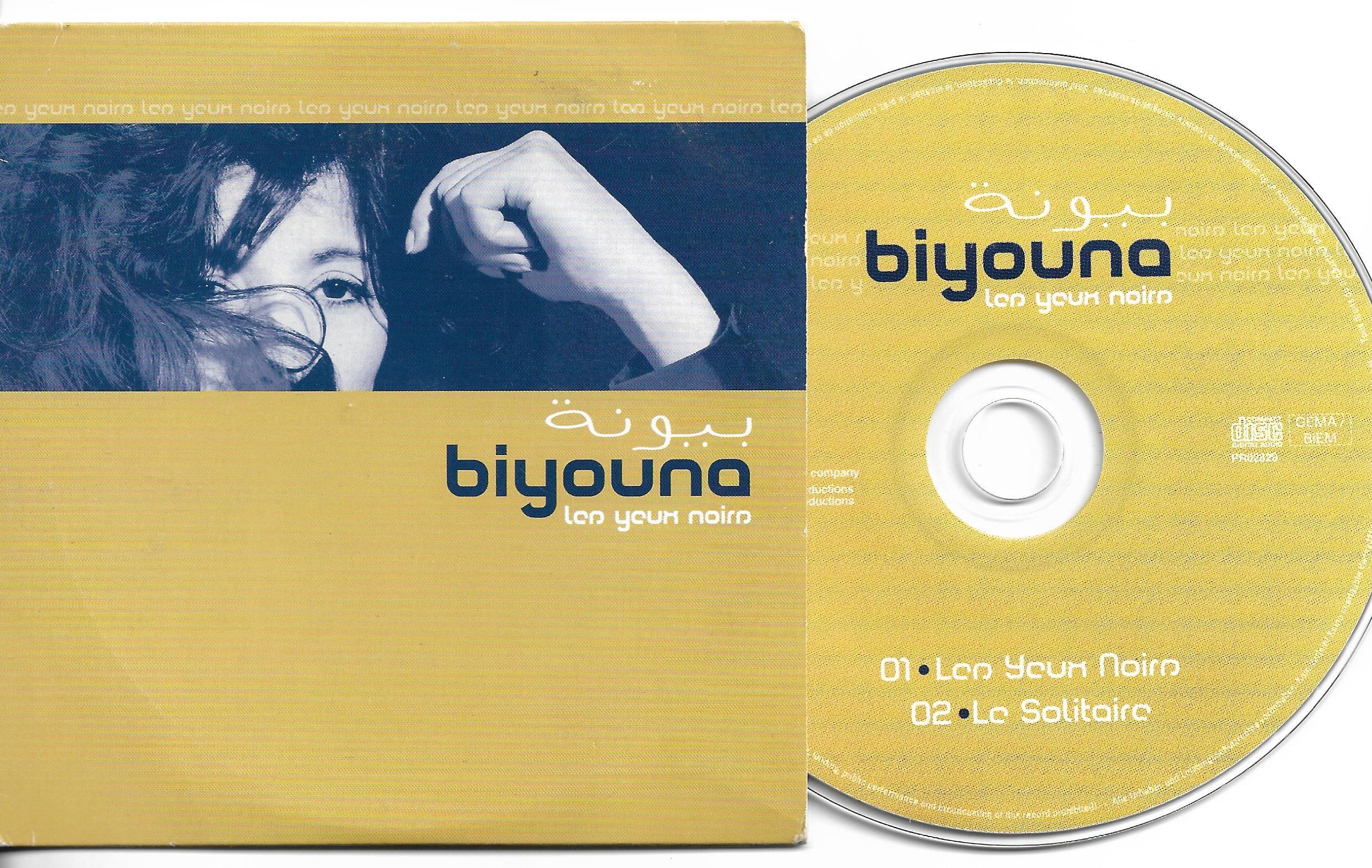 BIYOUNA - Tes yeux Noirs Promo 2 track Card Sleeve - CD single
