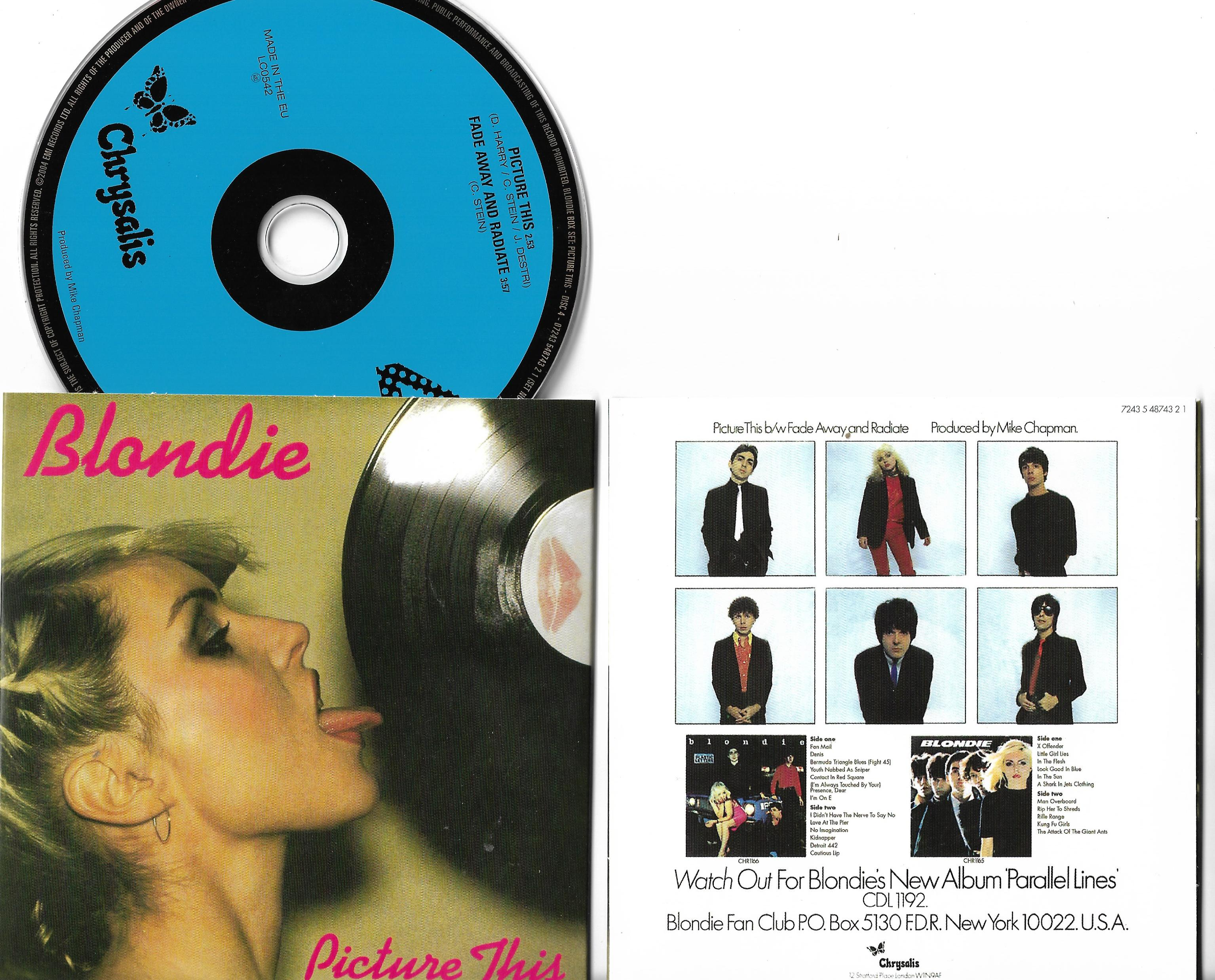 BLONDIE - Picture This 2-track Card Sleeve