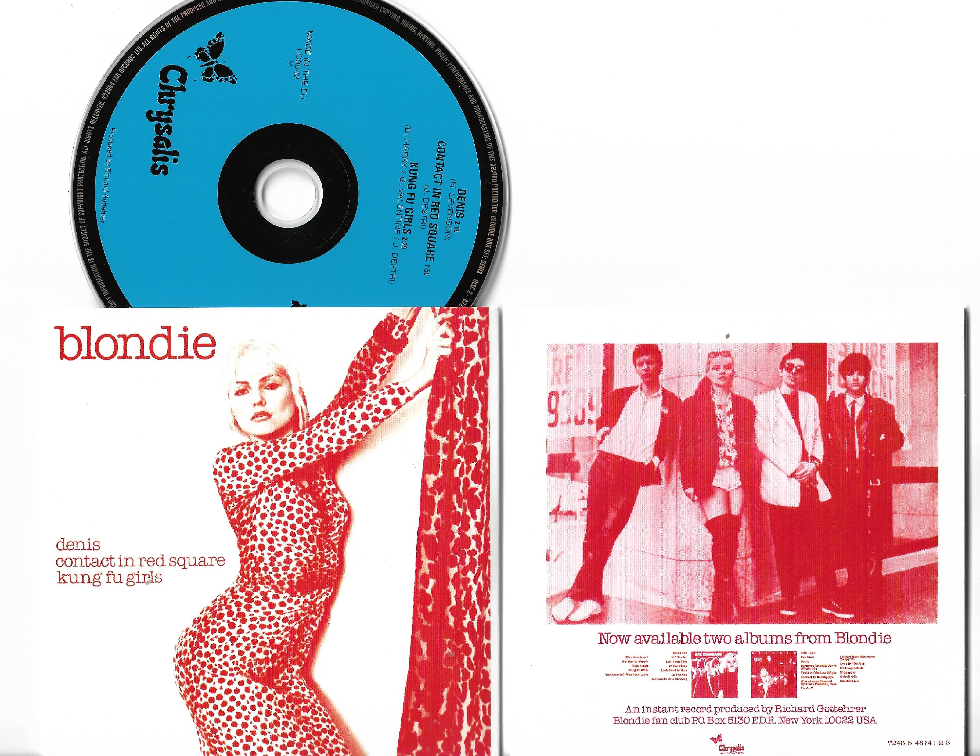 BLONDIE - Denis 3-track Card Sleeve
