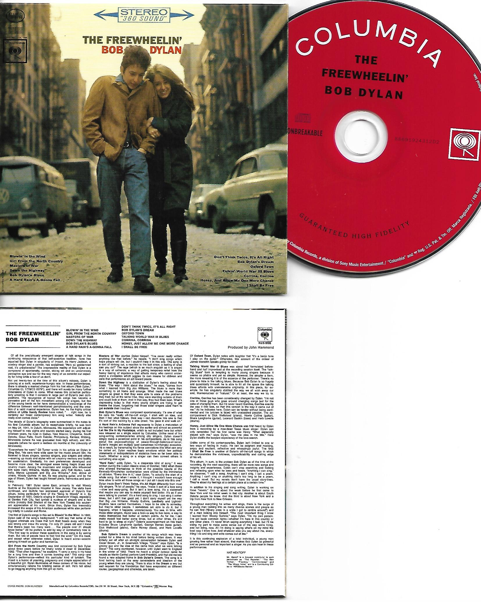 Bob DYLAN - The Freewheelin' Bob Dylan 1963 - Mini Lp Replica Card Board Sleeve